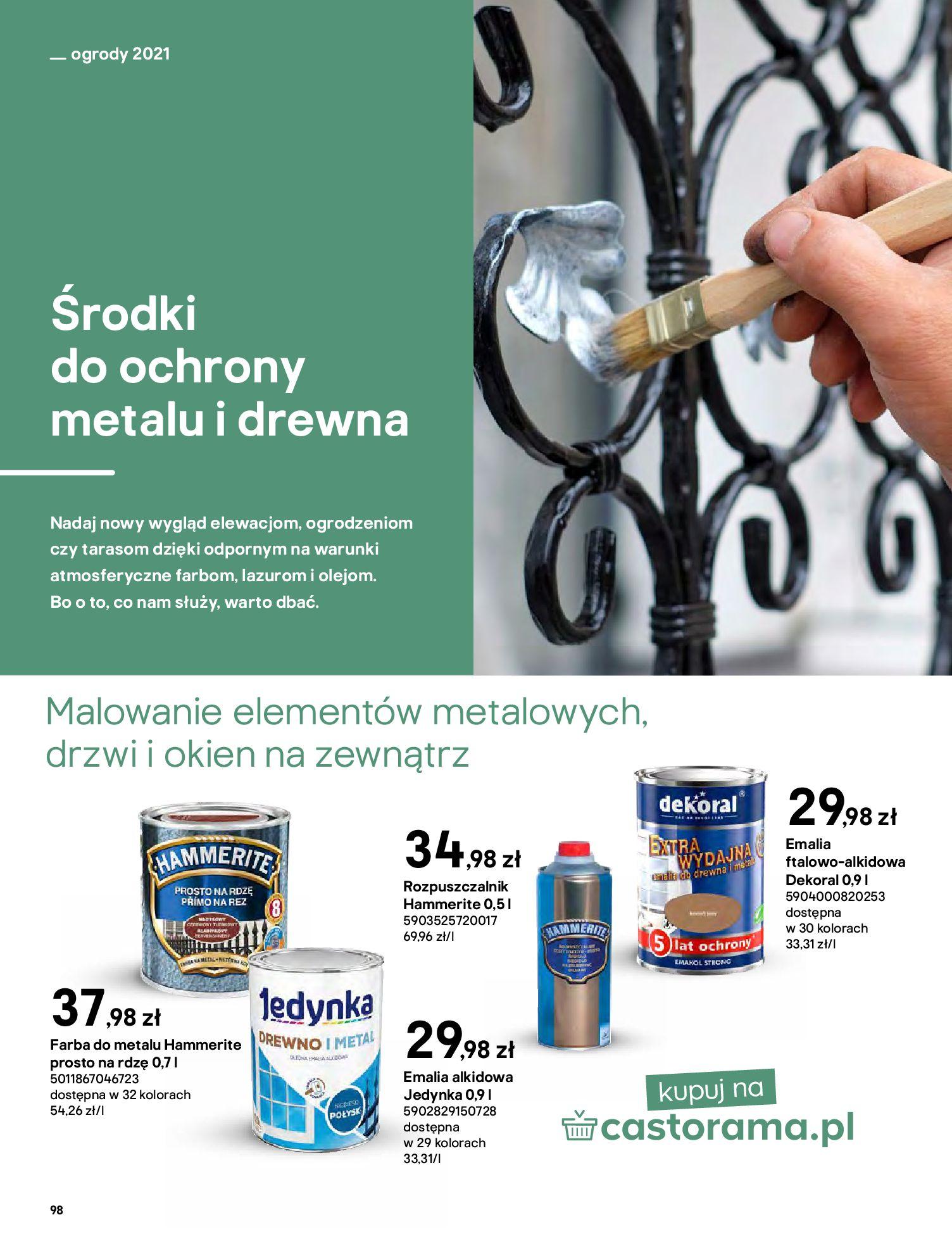 Gazetka Castorama: Katalog ogrody 2021-03-01 page-98