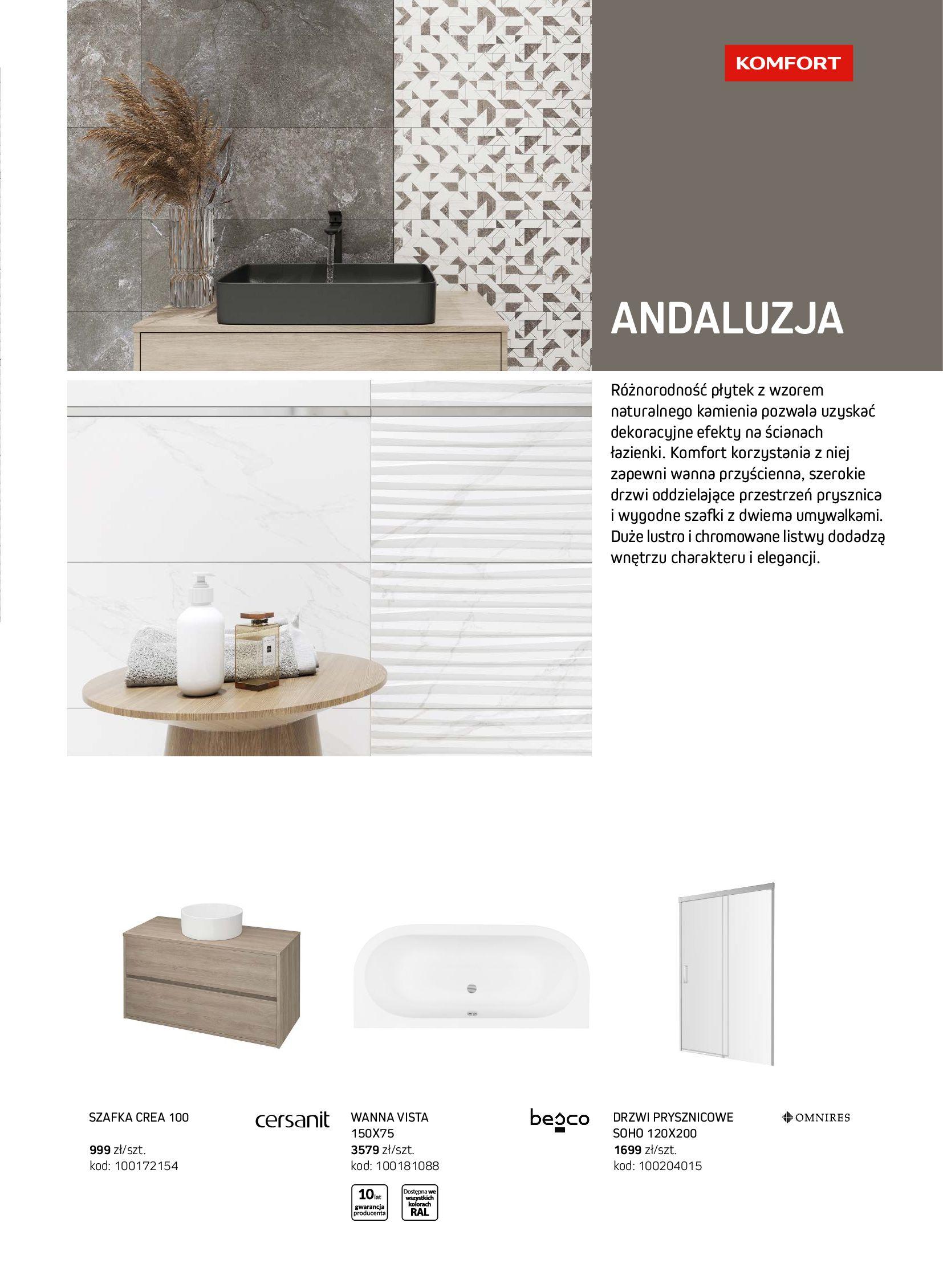 Gazetka Komfort: Gazetka Komfort - Łazienki 2021 2021-05-21 page-47