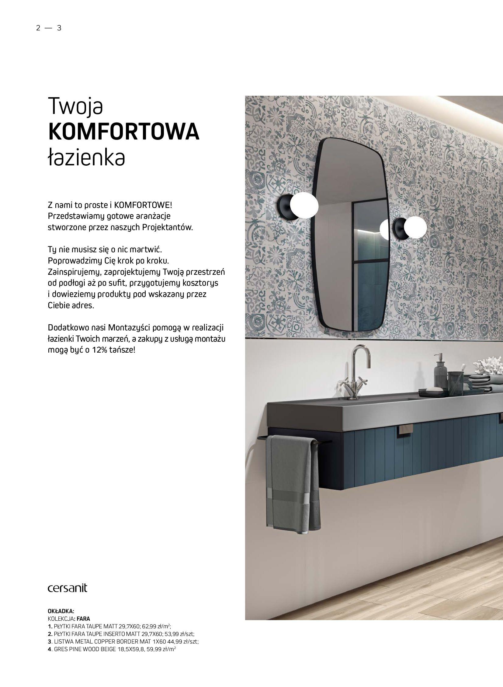 Gazetka Komfort: Gazetka Komfort - Łazienki 2021 2021-05-21 page-2