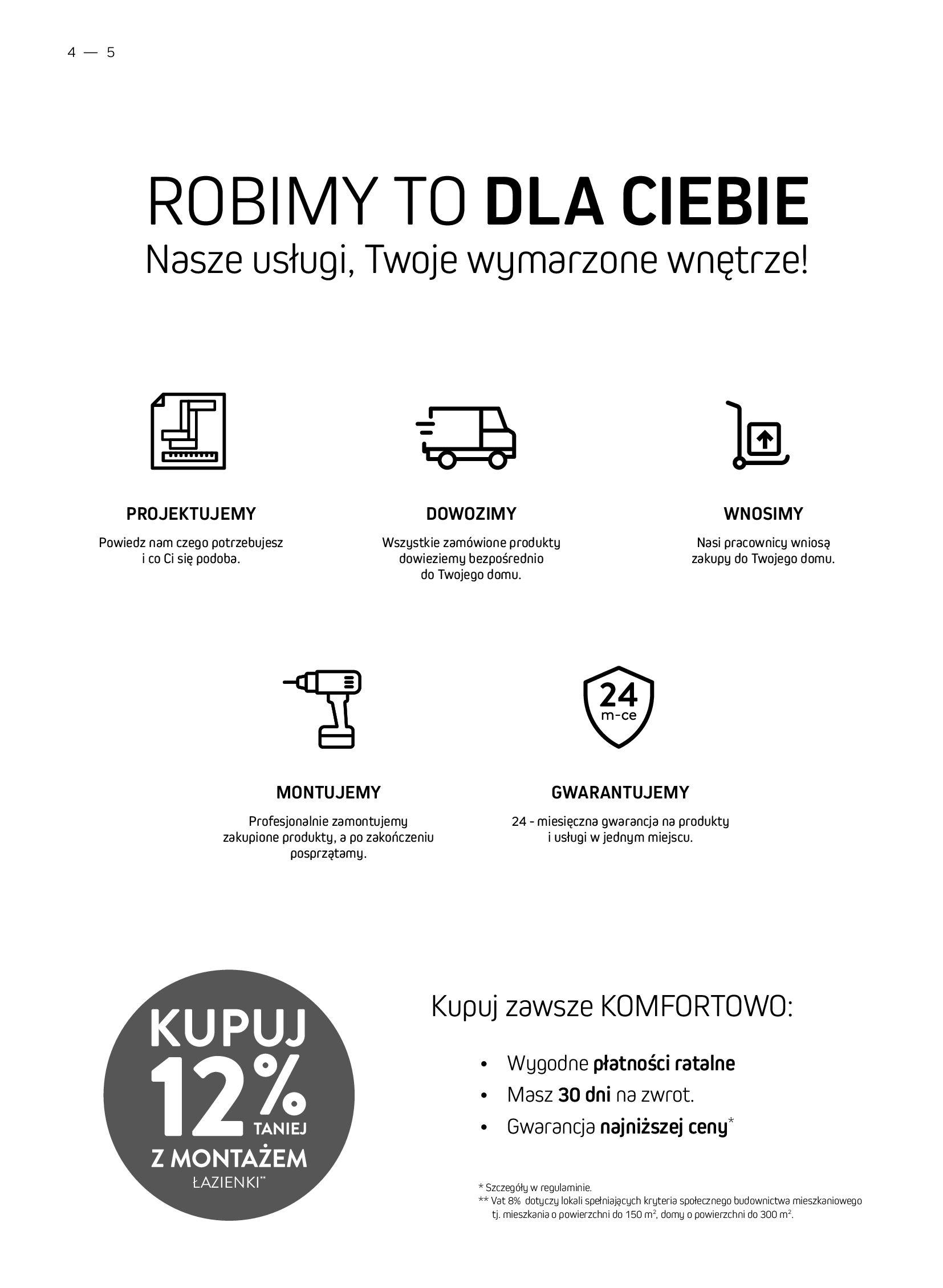 Gazetka Komfort: Gazetka Komfort - Łazienki 2021 2021-05-21 page-4