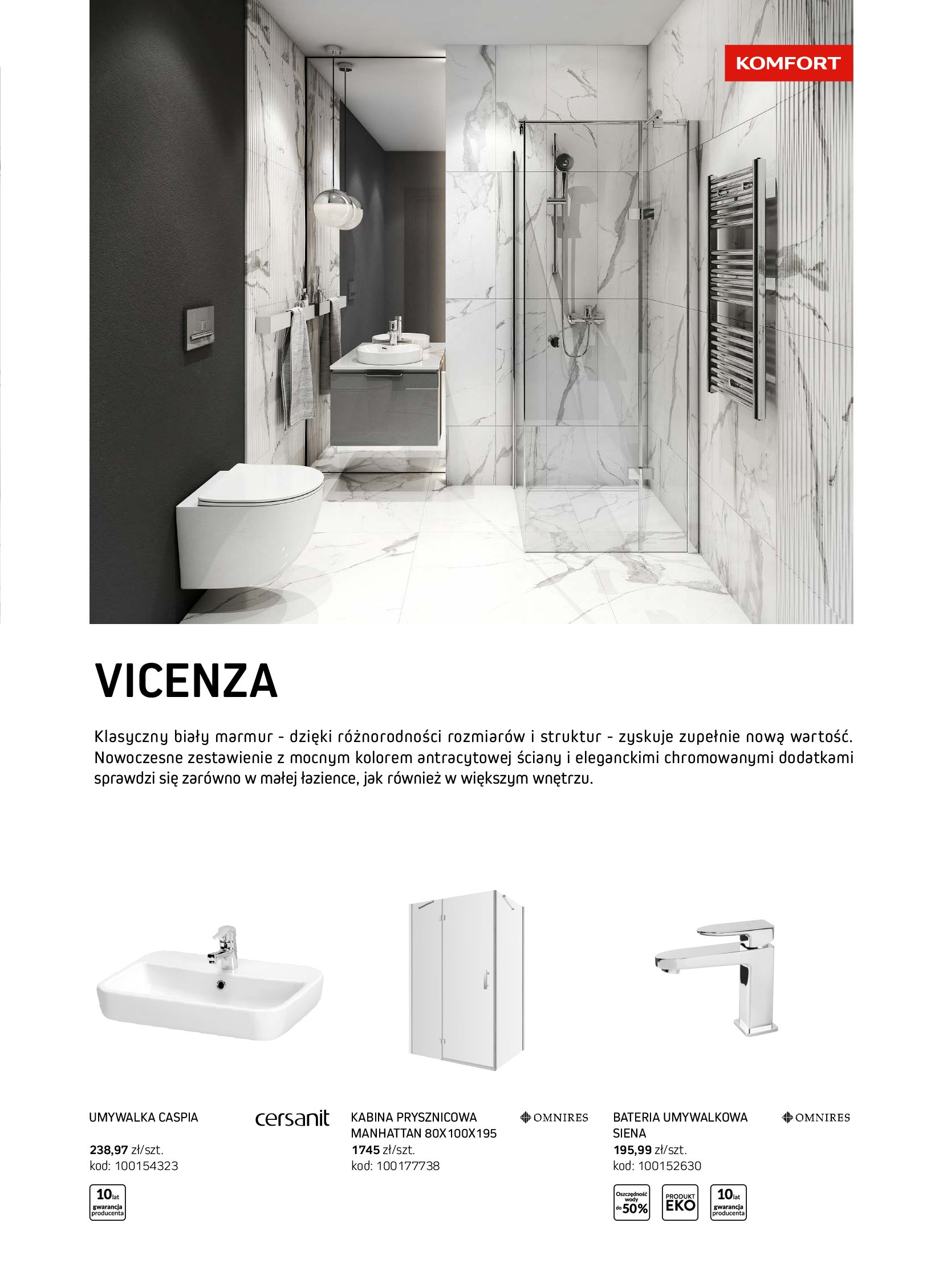 Gazetka Komfort: Gazetka Komfort - Łazienki 2021 2021-05-21 page-37