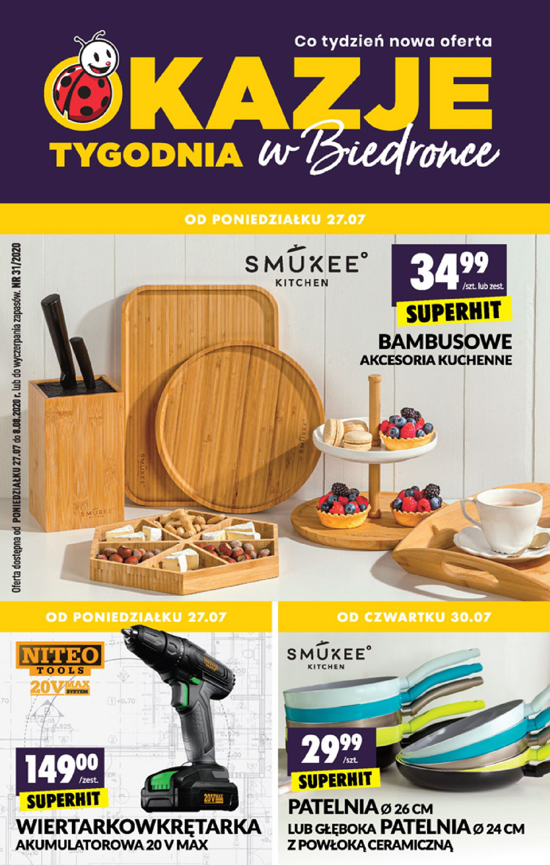 Gazetka Biedronka - Okazje tygodnia-26.07.2020-12.08.2020-page-1