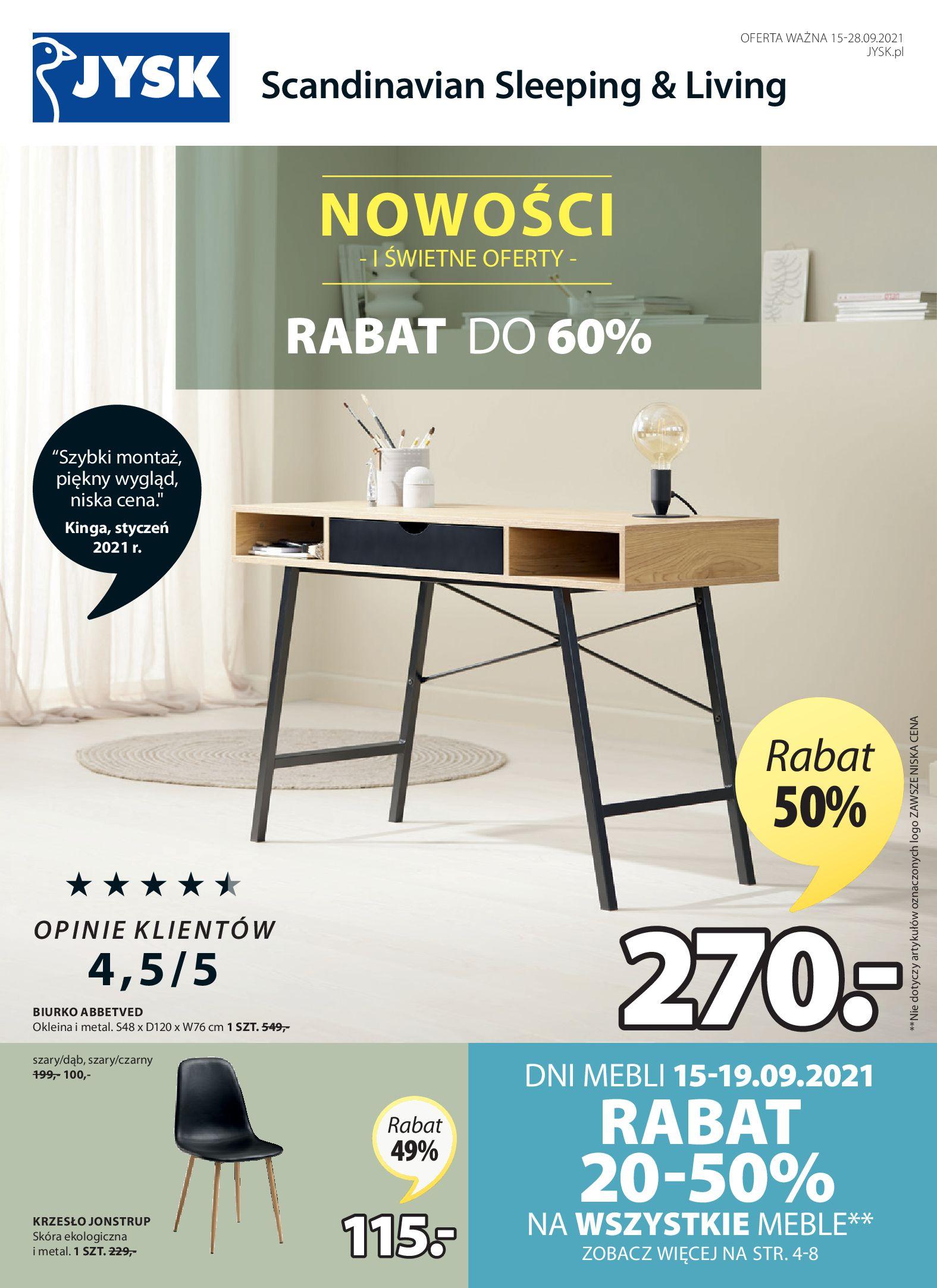 Gazetka Jysk: Gazetka Jysk 2021-09-15 page-2