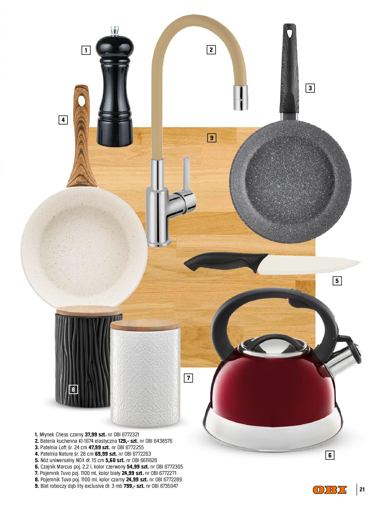 Gazetka OBI: Katalog OBI Kuchnia 2021-05-25 page-21