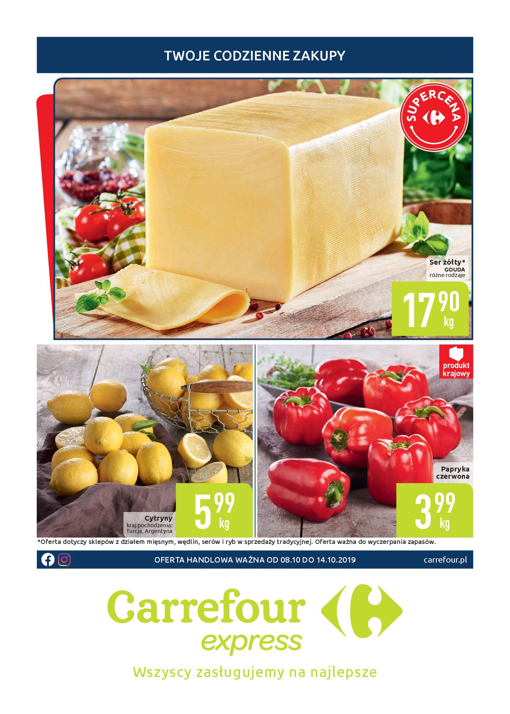 Gazetka Carrefour Express - Twoje codzinnie zakupy-07.10.2019-14.10.2019-page-