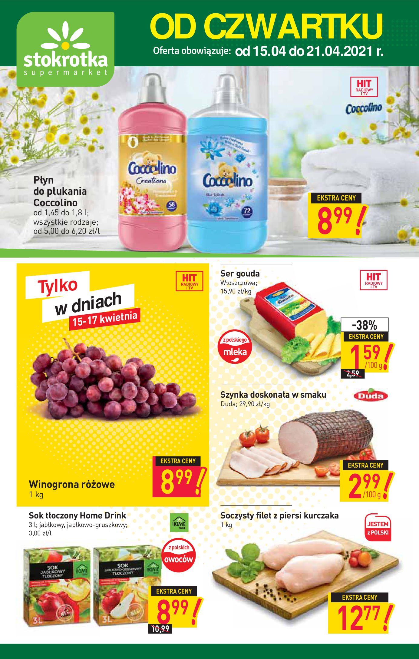 Stokrotka Supermarket:  Gazetka promocyjna od 15.04 14.04.2021