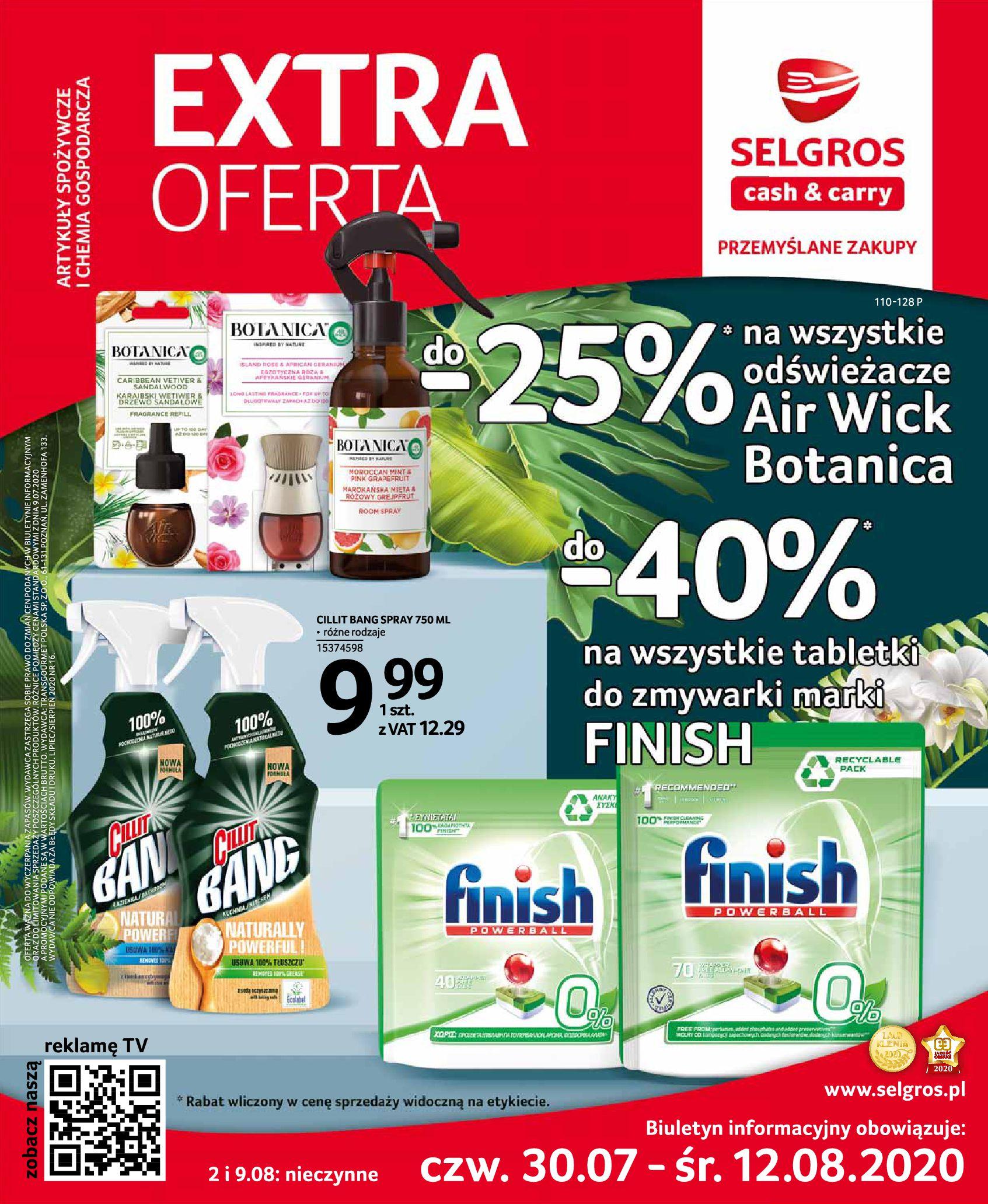 Gazetka Selgros - Oferta handlowa-29.07.2020-12.08.2020-page-1