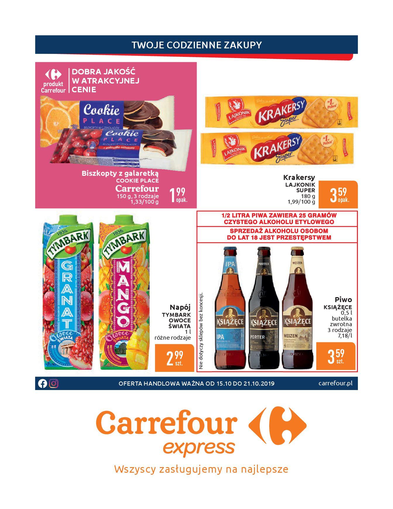 Gazetka Carrefour Express - Gdy zakupy rosną, to ceny maleją ekspresowo-14.10.2019-21.10.2019-page-