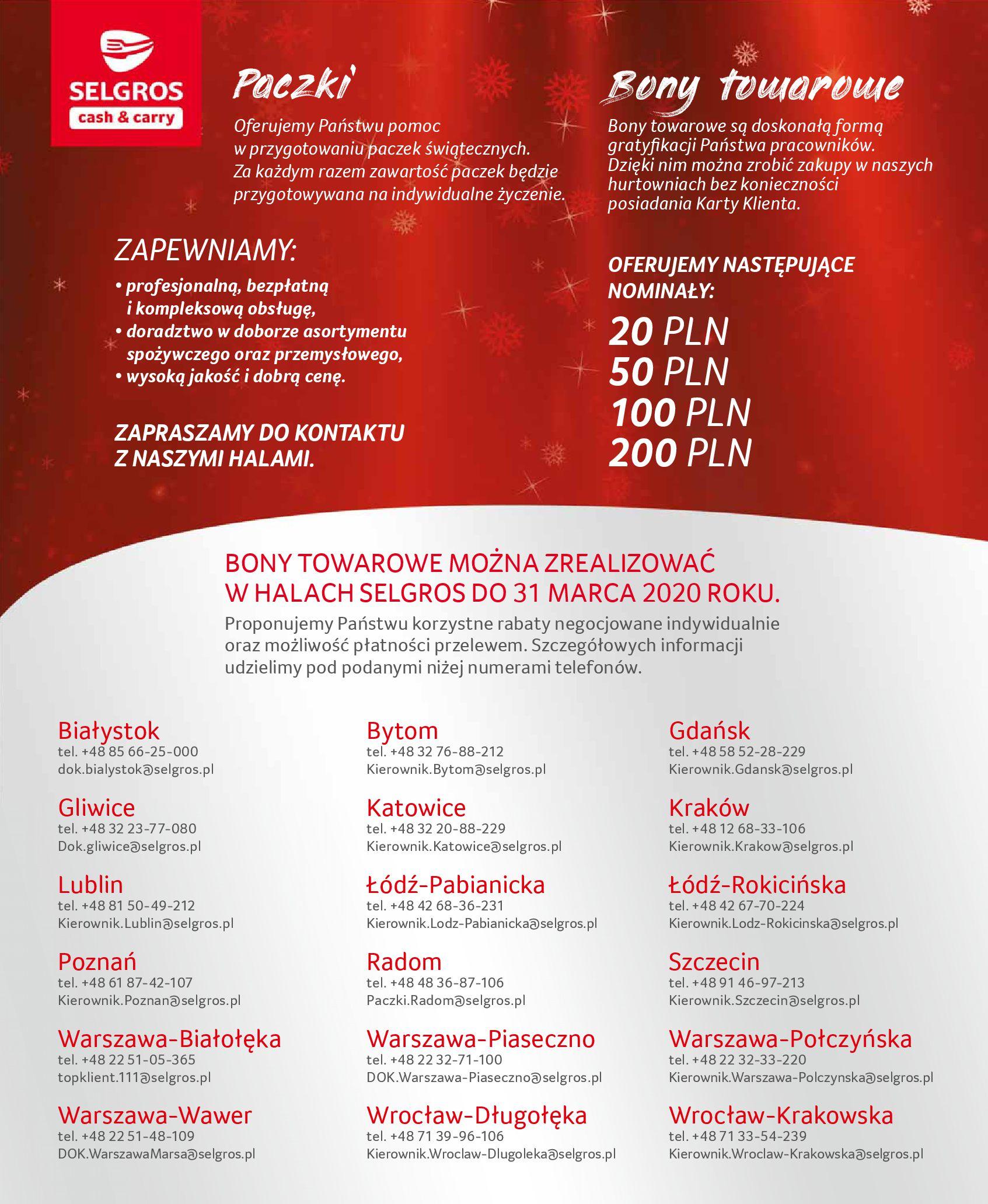 Gazetka Selgros - Zestawy upominkowe i bony-25.09.2019-04.12.2019-page-