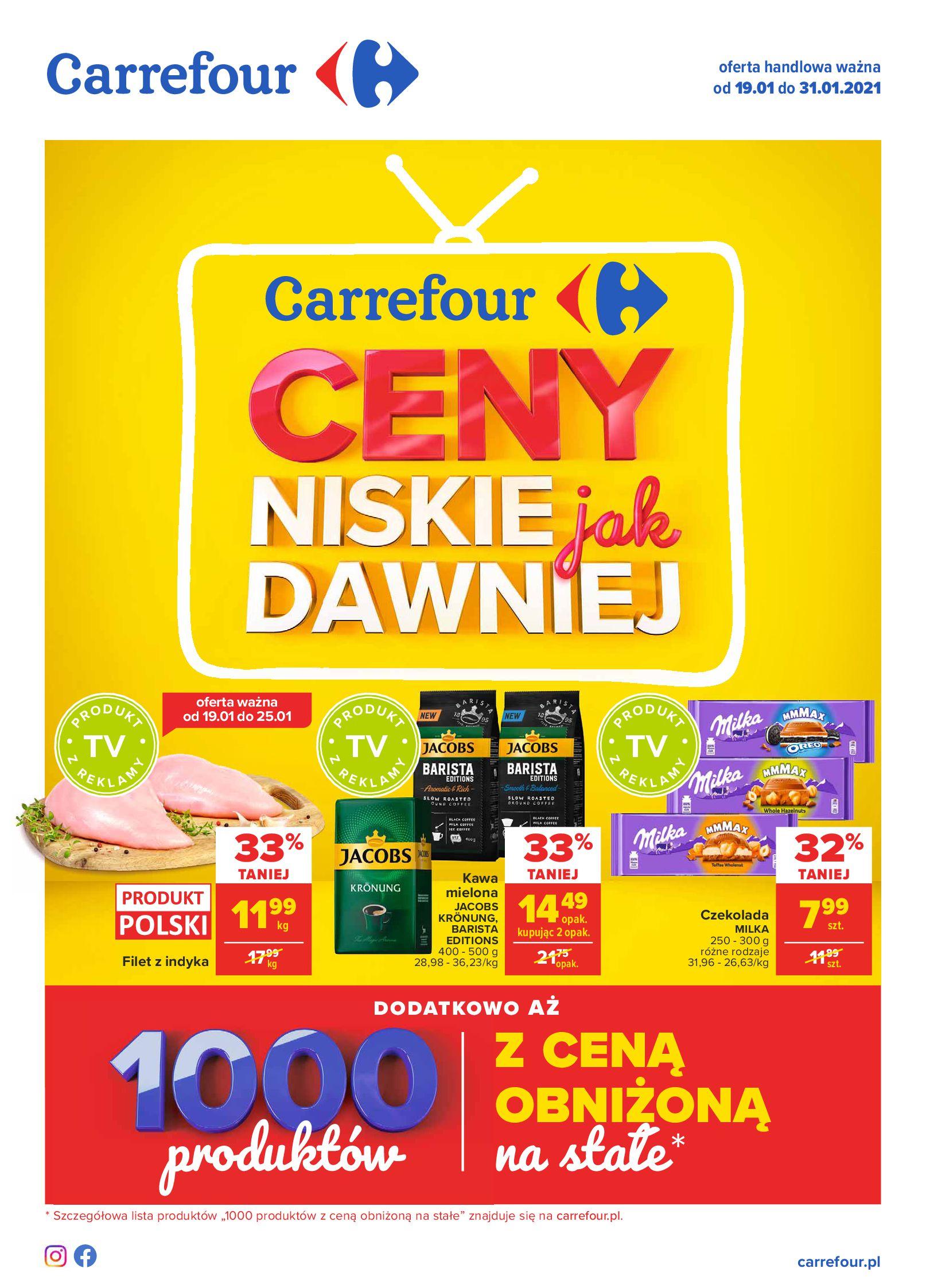 Carrefour:  Ceny niskie jak dawniej - Carrefour 18.01.2021