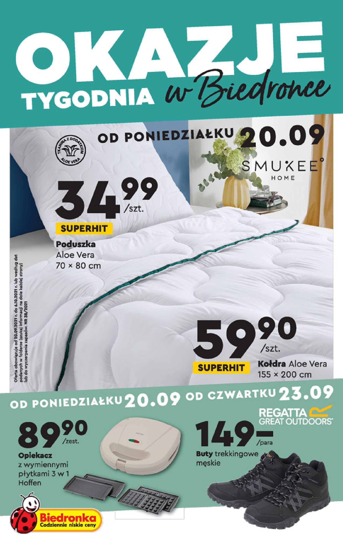 Biedronka:  Gazetka Biedronka - Okazje tygodnia od 20.09 19.09.2021