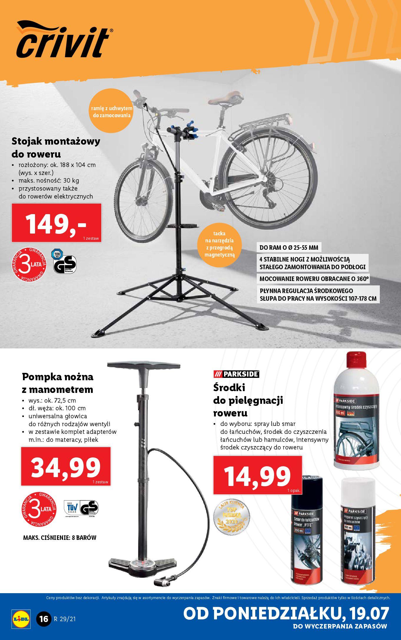 Gazetka Lidl: Gazetka Lidl - Katalog od 19.07 2021-07-19 page-16
