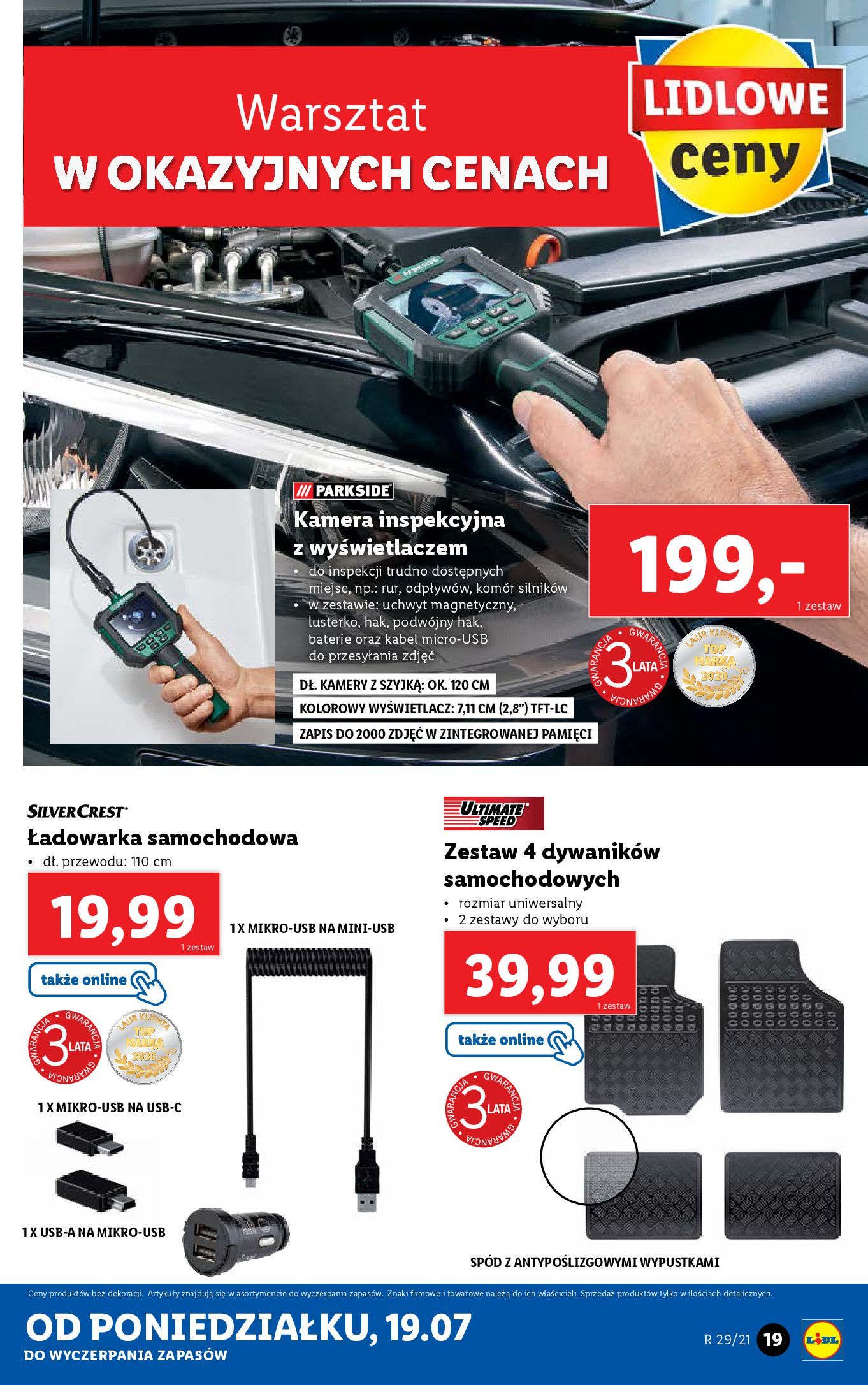 Gazetka Lidl: Gazetka Lidl - Katalog od 19.07 2021-07-19 page-19