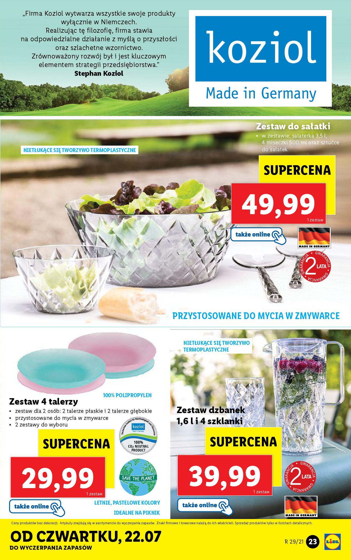 Gazetka Lidl: Gazetka Lidl - Katalog od 19.07 2021-07-19 page-23