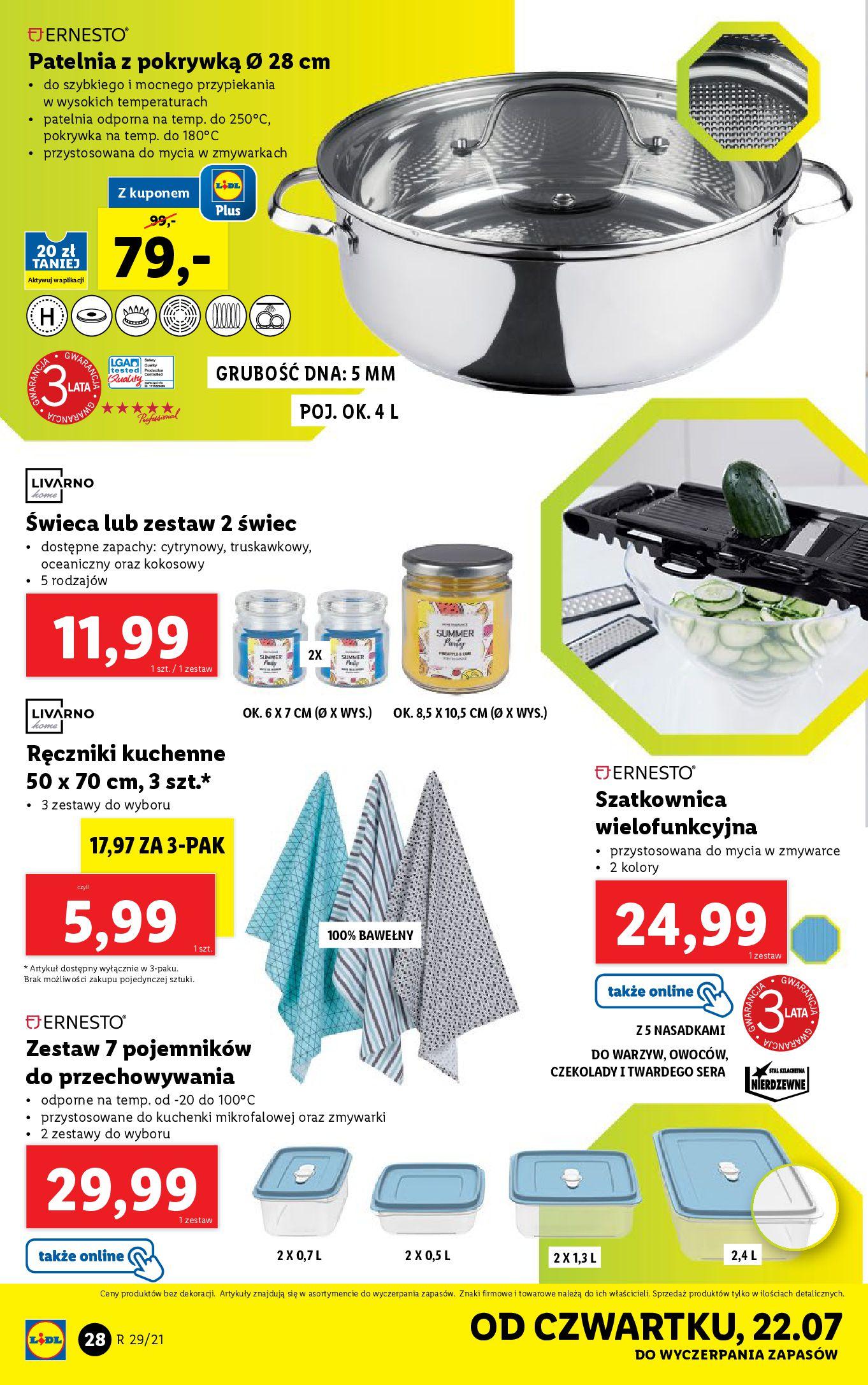 Gazetka Lidl: Gazetka Lidl - Katalog od 19.07 2021-07-19 page-28