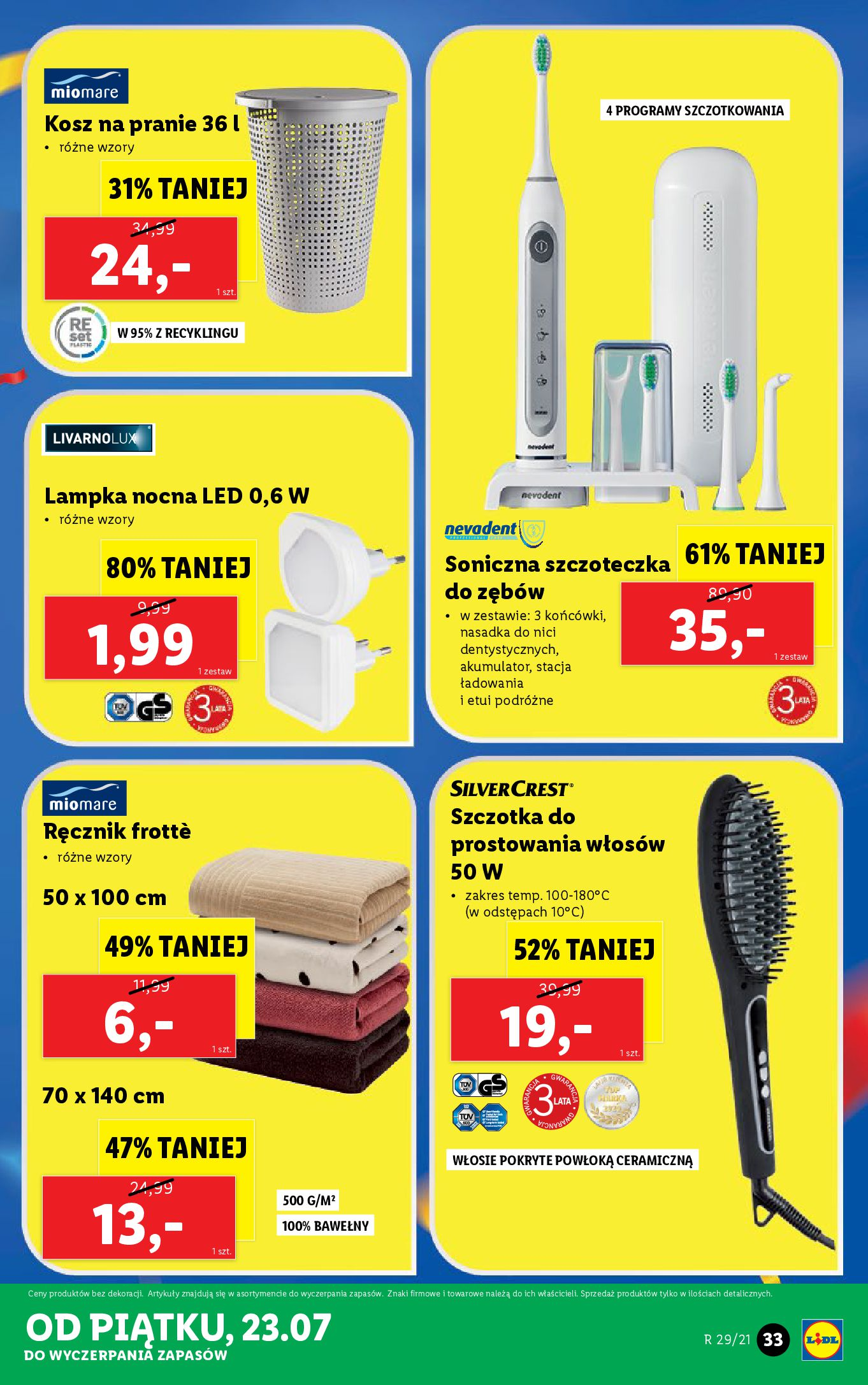 Gazetka Lidl: Gazetka Lidl - Katalog od 19.07 2021-07-19 page-33