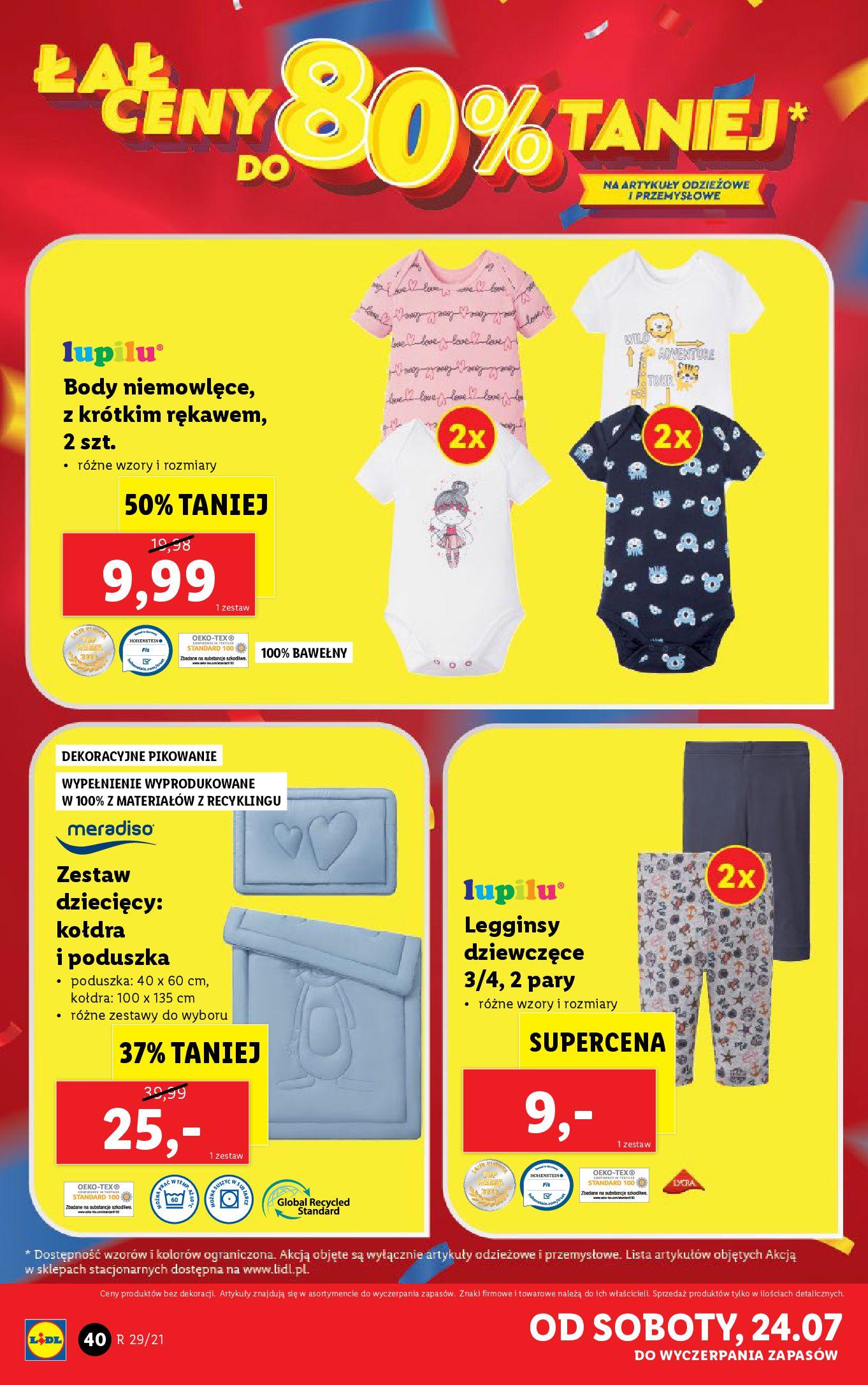 Gazetka Lidl: Gazetka Lidl - Katalog od 19.07 2021-07-19 page-40