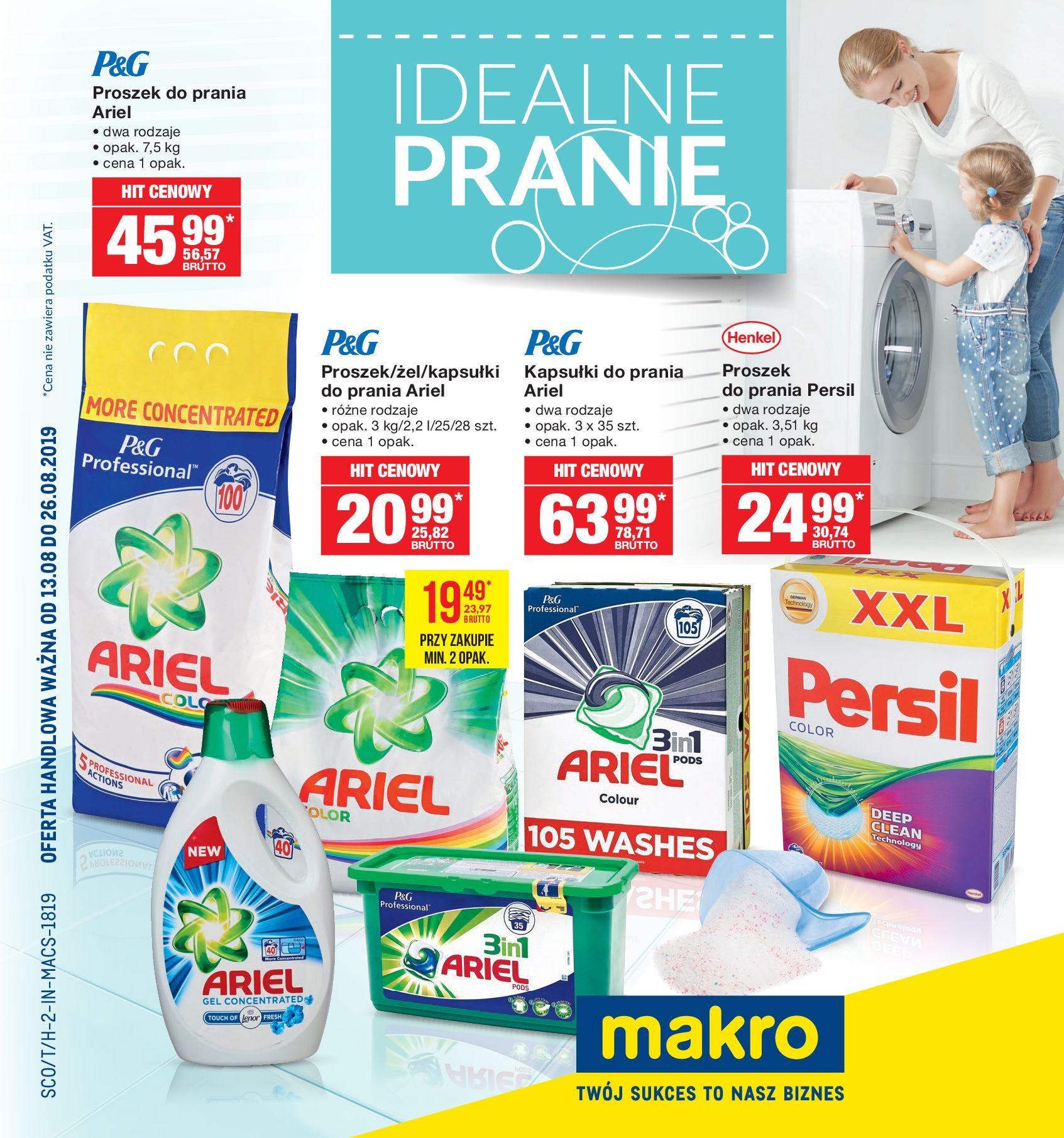 Gazetka Makro - Idealne pranie-12.08.2019-26.08.2019-page-1