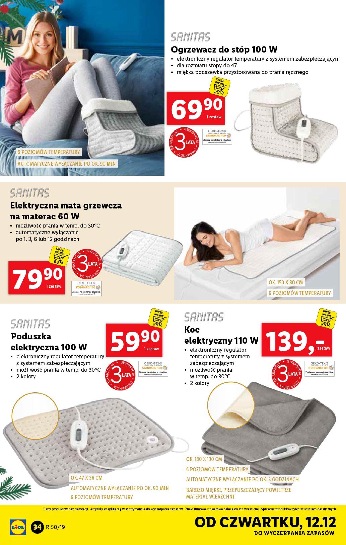 Gazetka Lidl - Katalog od poniedziałku 09.12-08.12.2019-15.12.2019-page-34