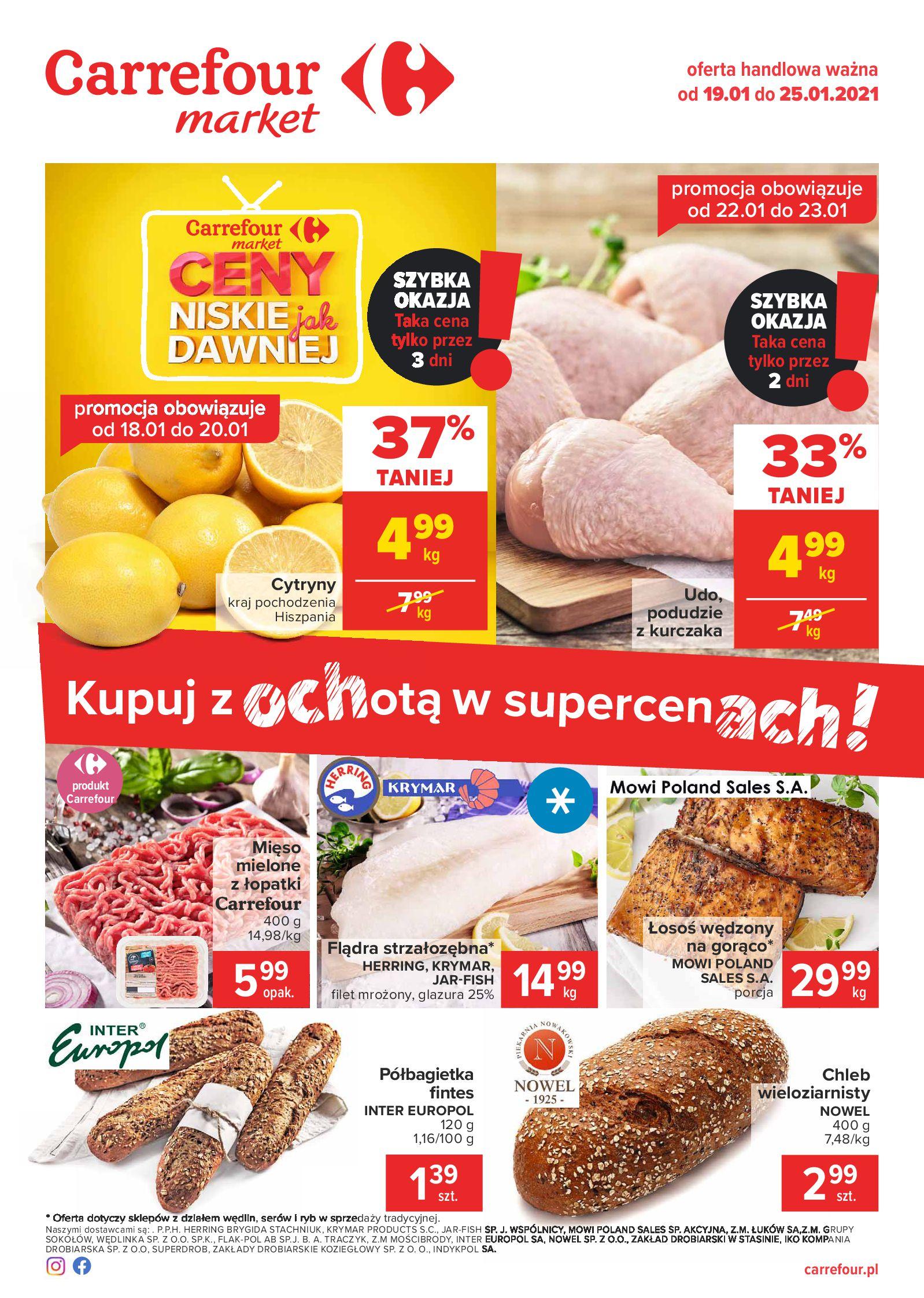 Carrefour Market:  Gazetka Market 18.01.2021