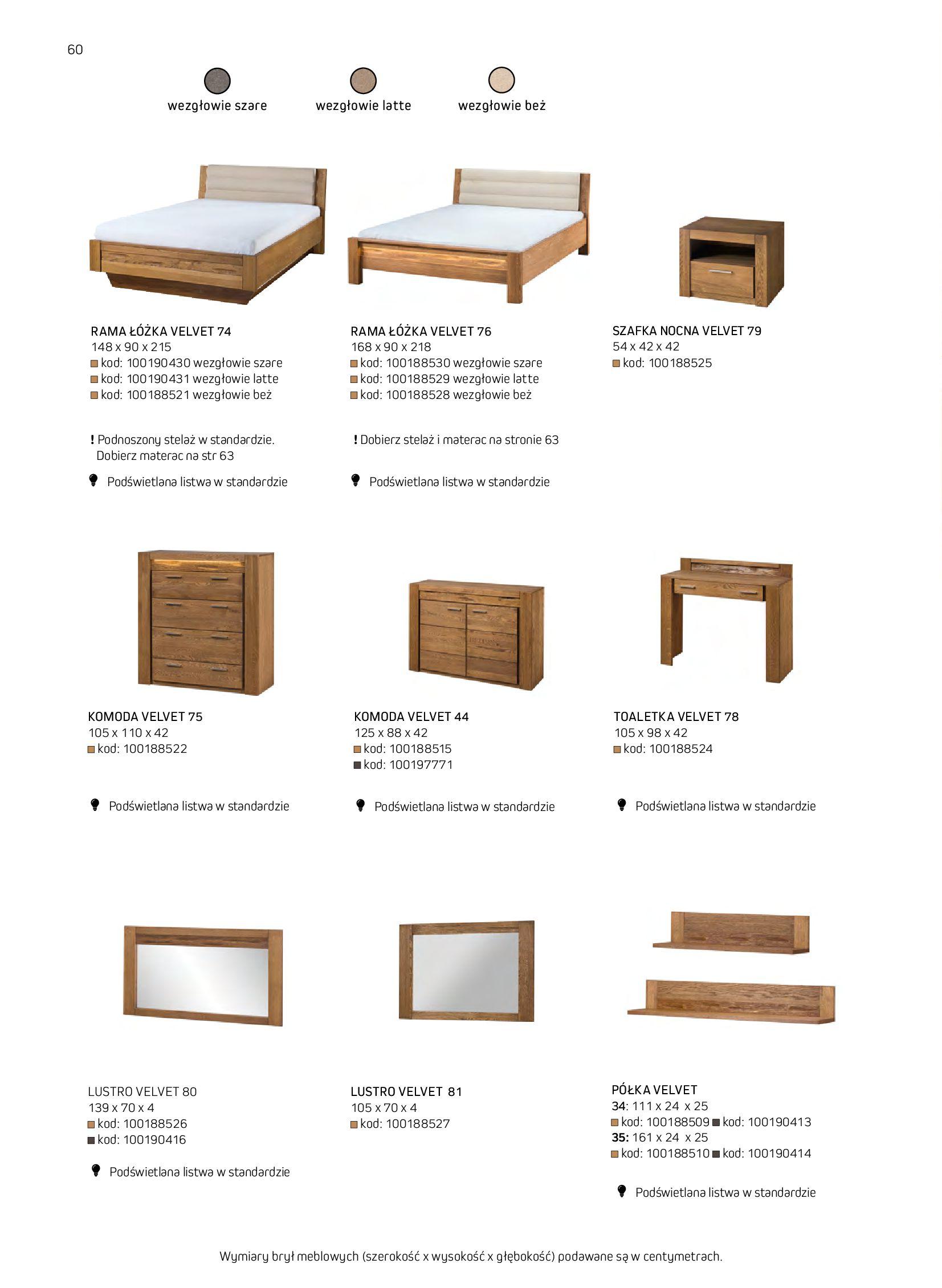 Gazetka Komfort: Gazetka komfort - Meble i oświetlenie 2021-08-26 page-60