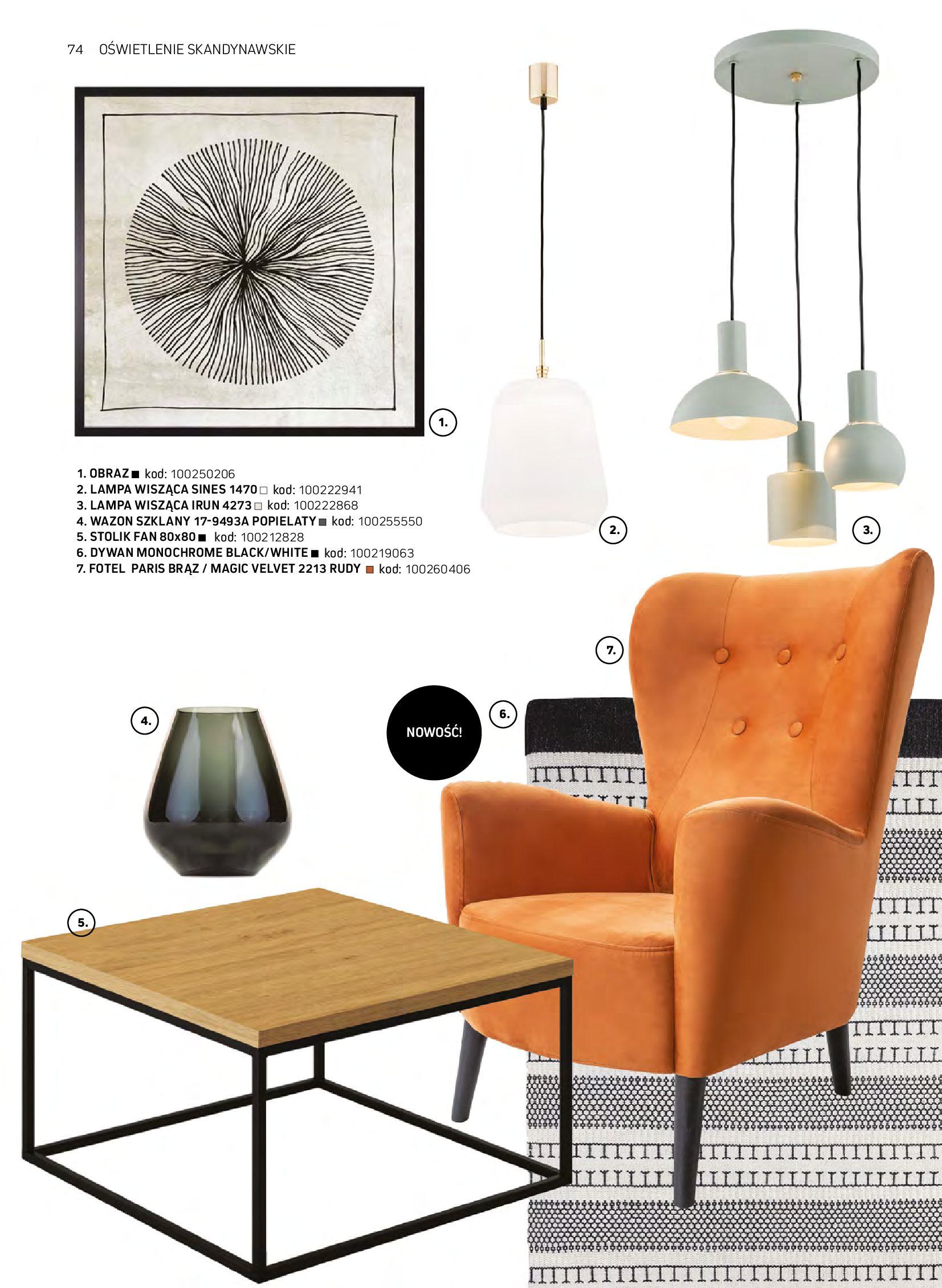 Gazetka Komfort: Gazetka komfort - Meble i oświetlenie 2021-08-26 page-74