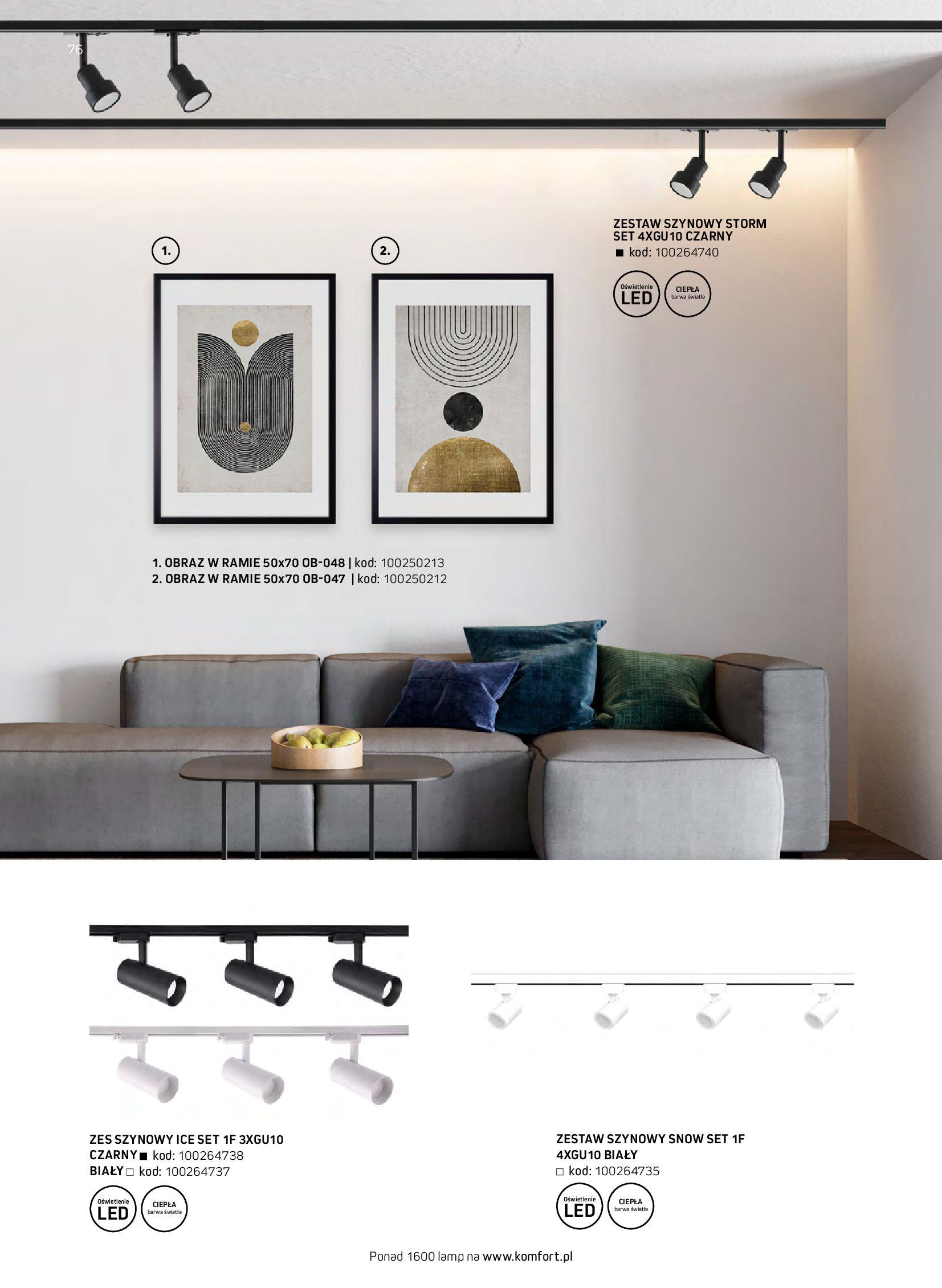 Gazetka Komfort: Gazetka komfort - Meble i oświetlenie 2021-08-26 page-76