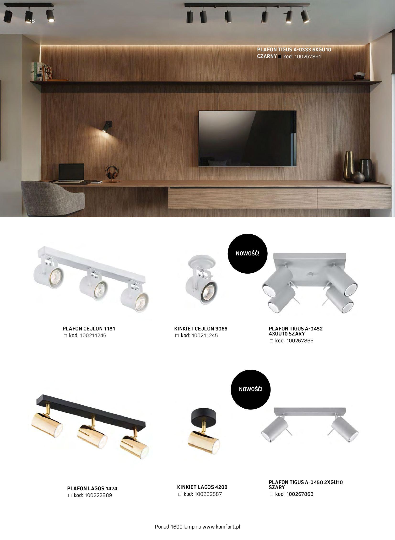 Gazetka Komfort: Gazetka komfort - Meble i oświetlenie 2021-08-26 page-78