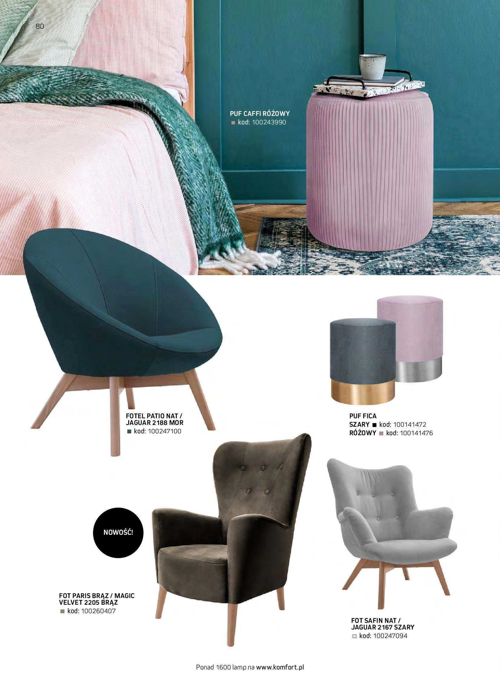 Gazetka Komfort: Gazetka komfort - Meble i oświetlenie 2021-08-26 page-80