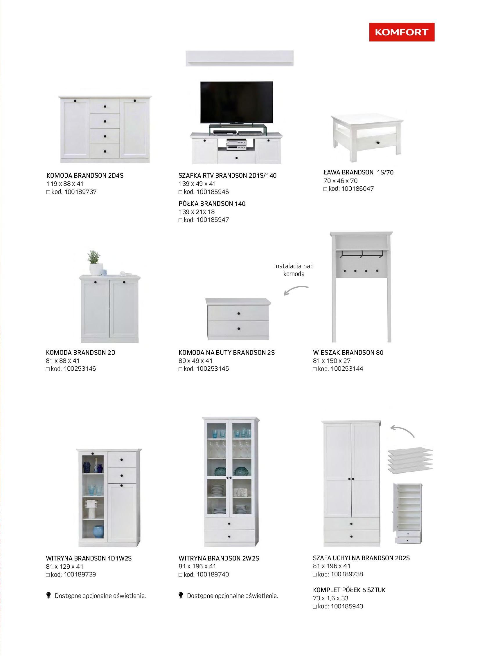 Gazetka Komfort: Gazetka komfort - Meble i oświetlenie 2021-08-26 page-9