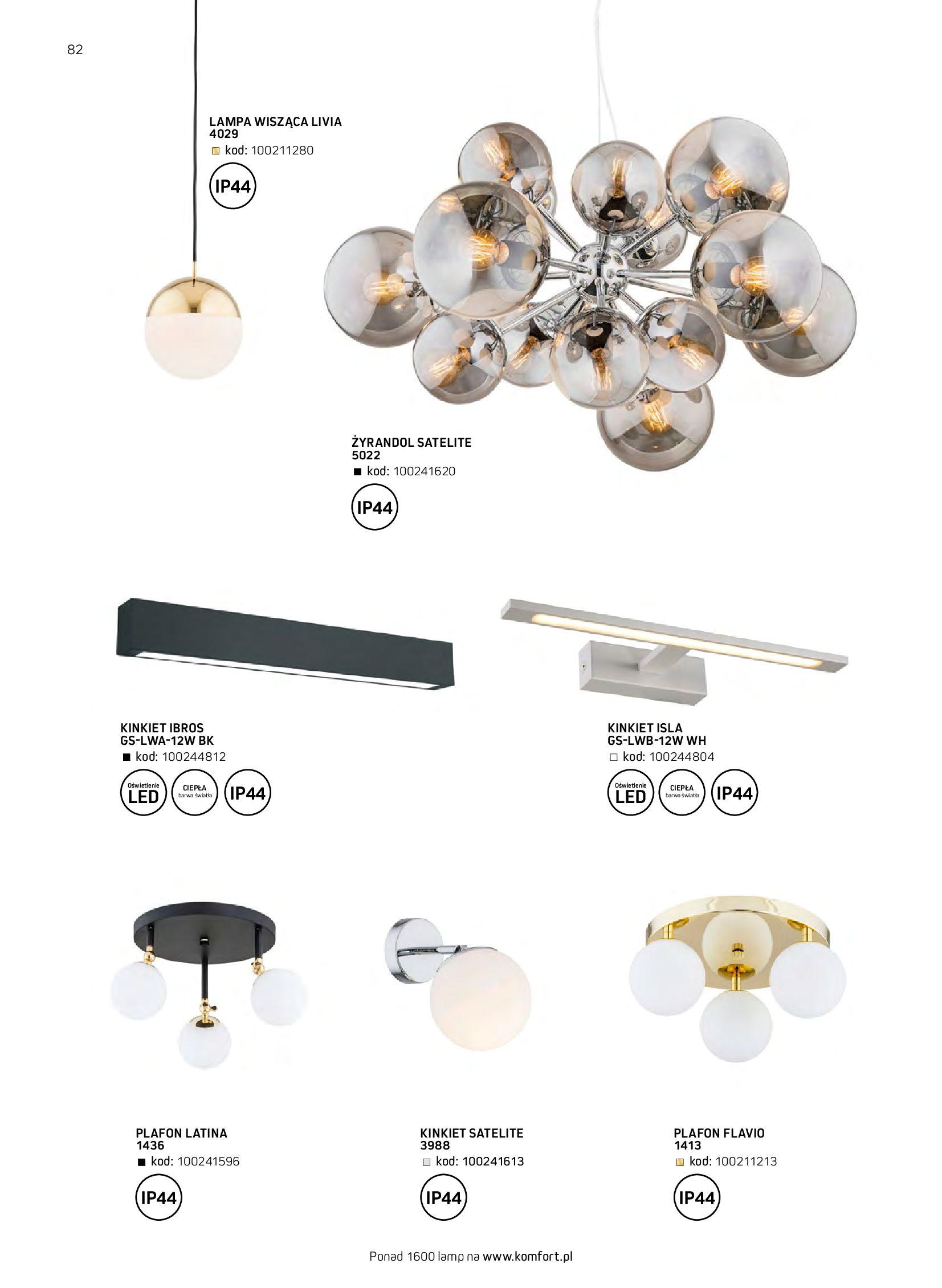 Gazetka Komfort: Gazetka komfort - Meble i oświetlenie 2021-08-26 page-82