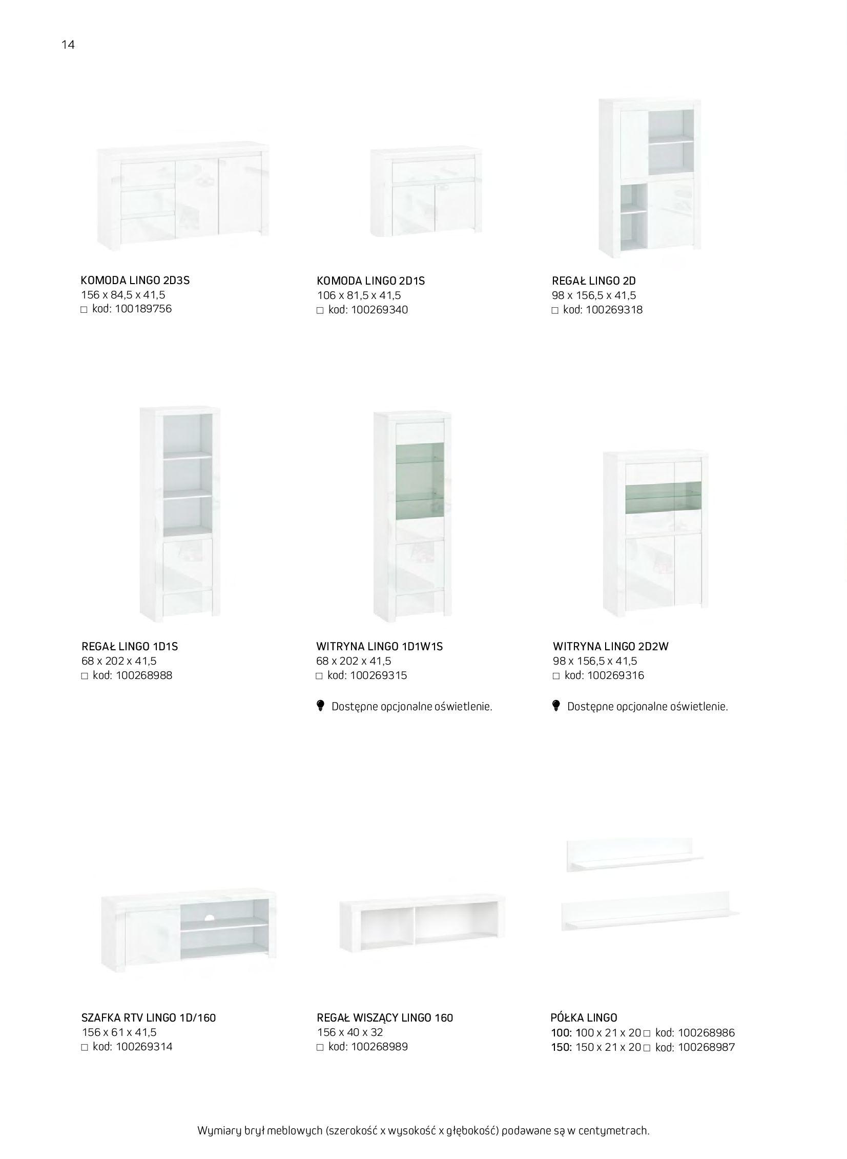 Gazetka Komfort: Gazetka komfort - Meble i oświetlenie 2021-08-26 page-14