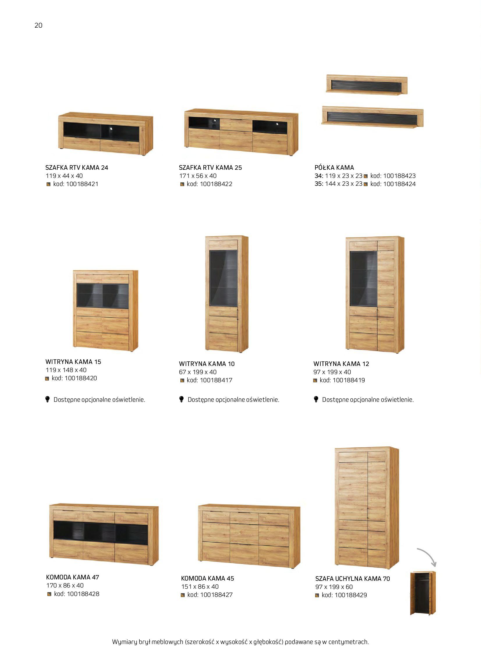 Gazetka Komfort: Gazetka komfort - Meble i oświetlenie 2021-08-26 page-20