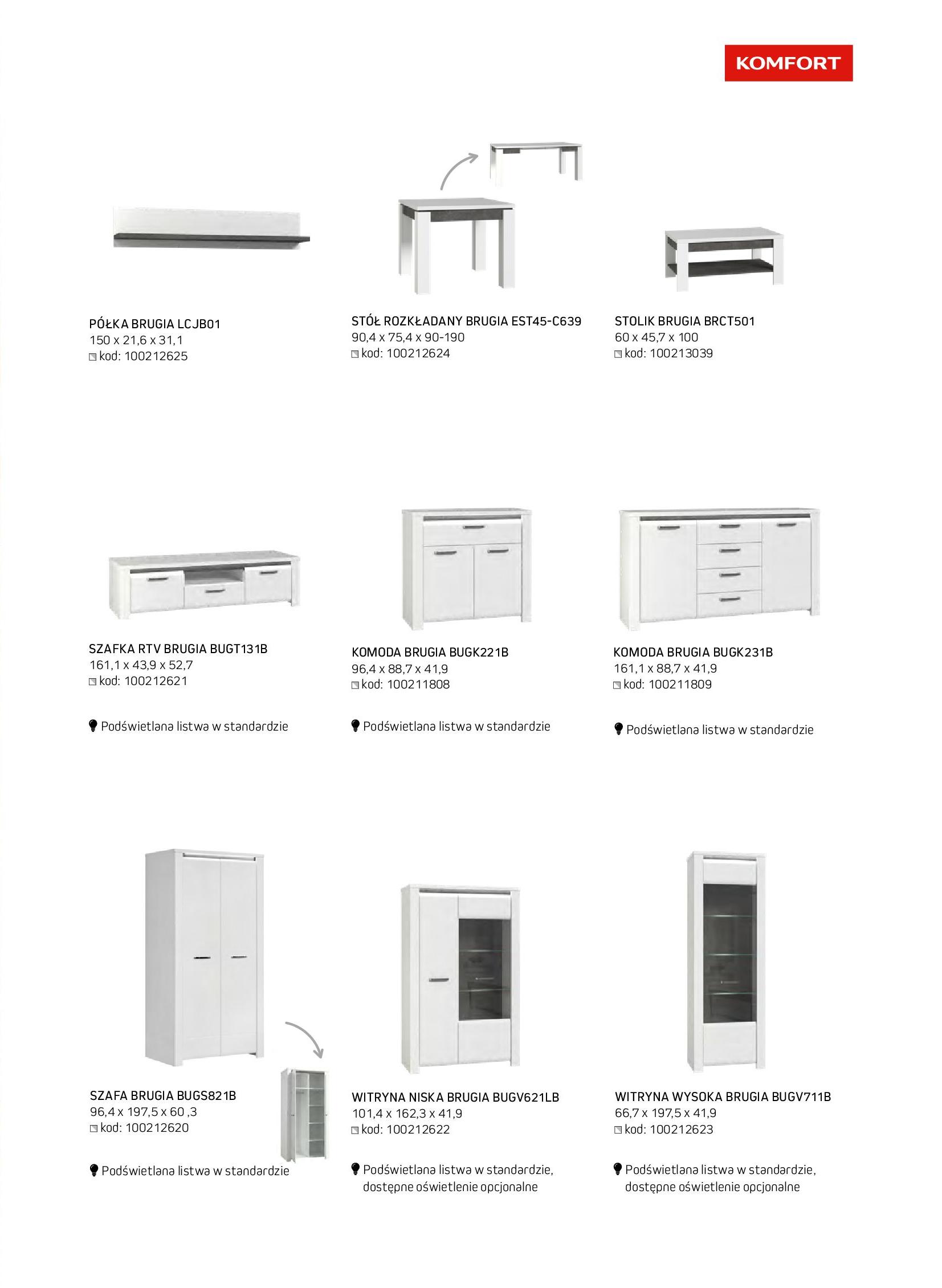 Gazetka Komfort: Gazetka komfort - Meble i oświetlenie 2021-08-26 page-27