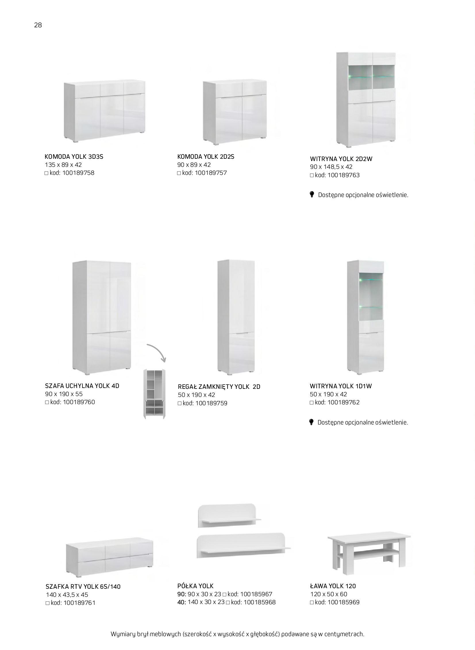 Gazetka Komfort: Gazetka komfort - Meble i oświetlenie 2021-08-26 page-28