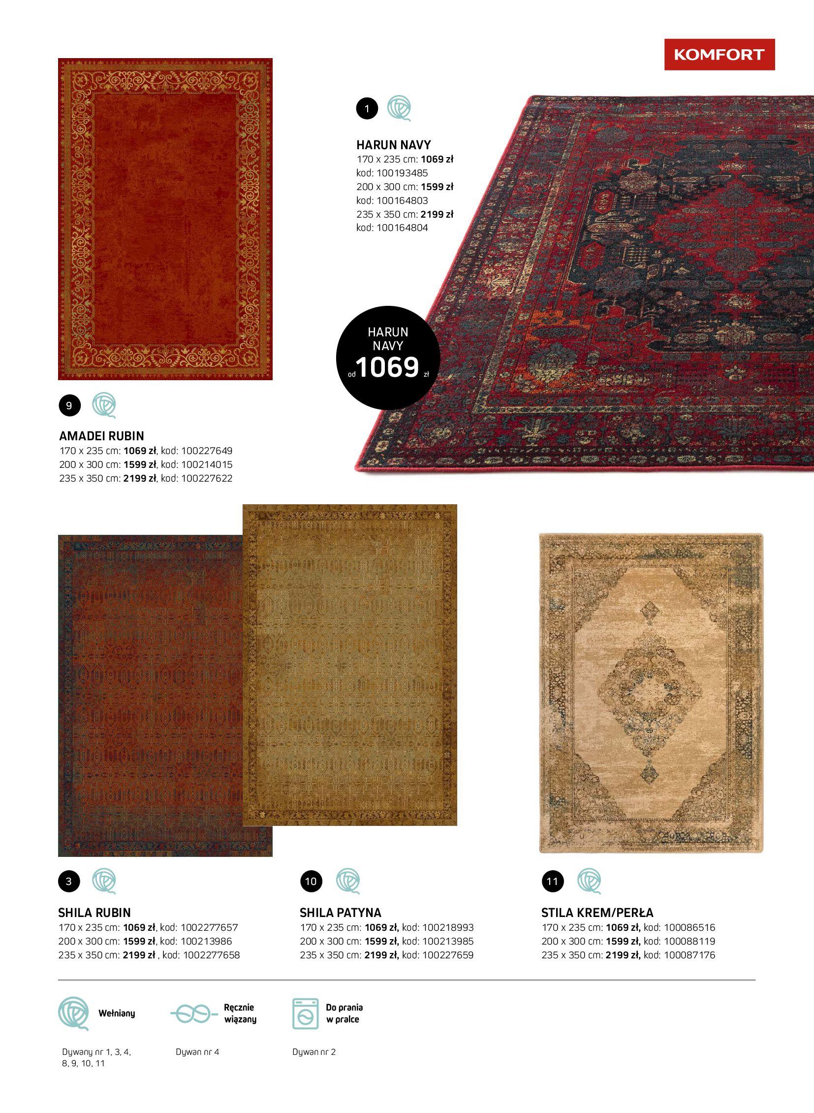 Gazetka Komfort: Gazetka Komfort - Katalog dywanów 2021-06-16 page-7