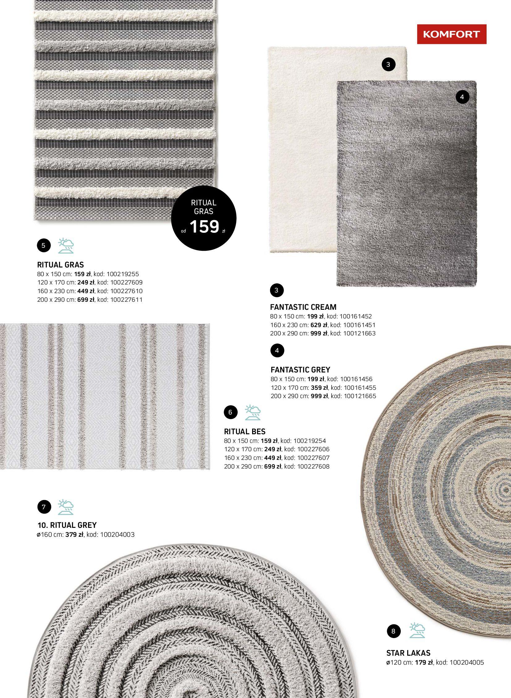 Gazetka Komfort: Gazetka Komfort - Katalog dywanów 2021-06-16 page-17
