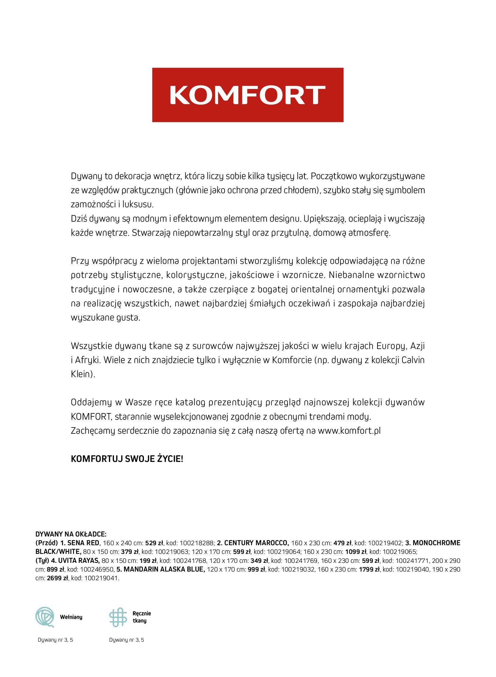 Gazetka Komfort: Gazetka Komfort - Katalog dywanów 2021-06-16 page-3
