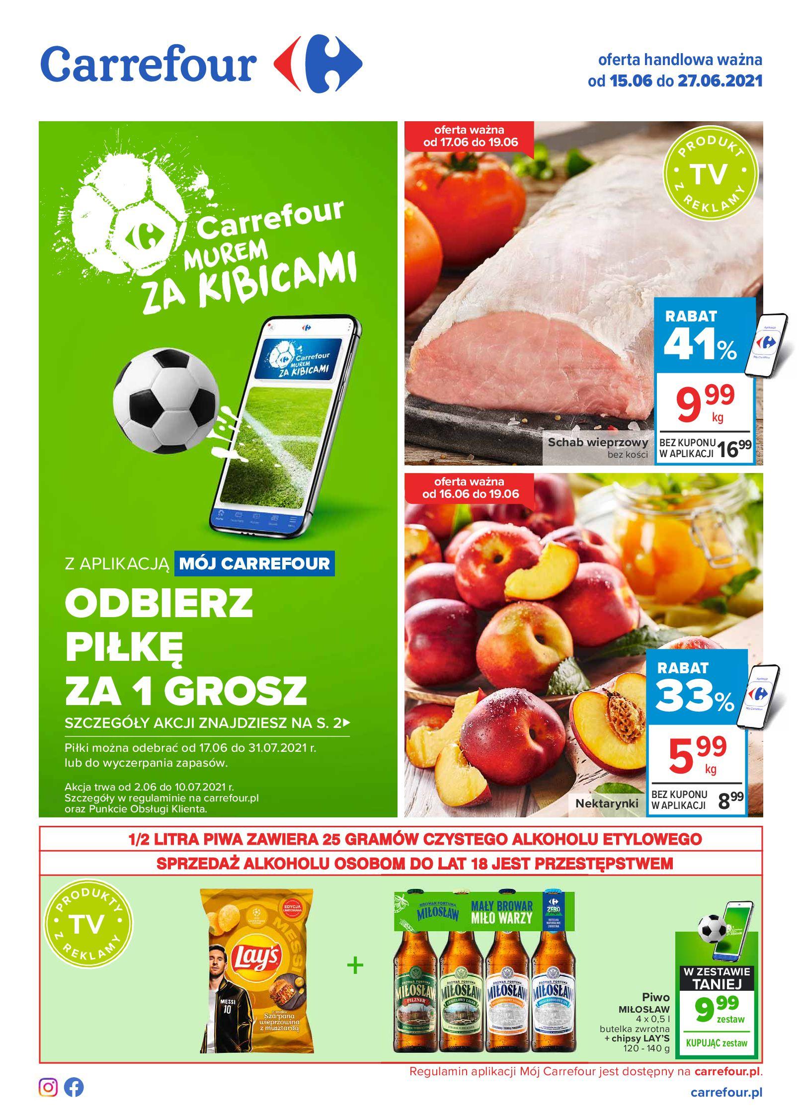 Carrefour:  Gazetka Carrefour - Oferta handlowa 14.06.2021