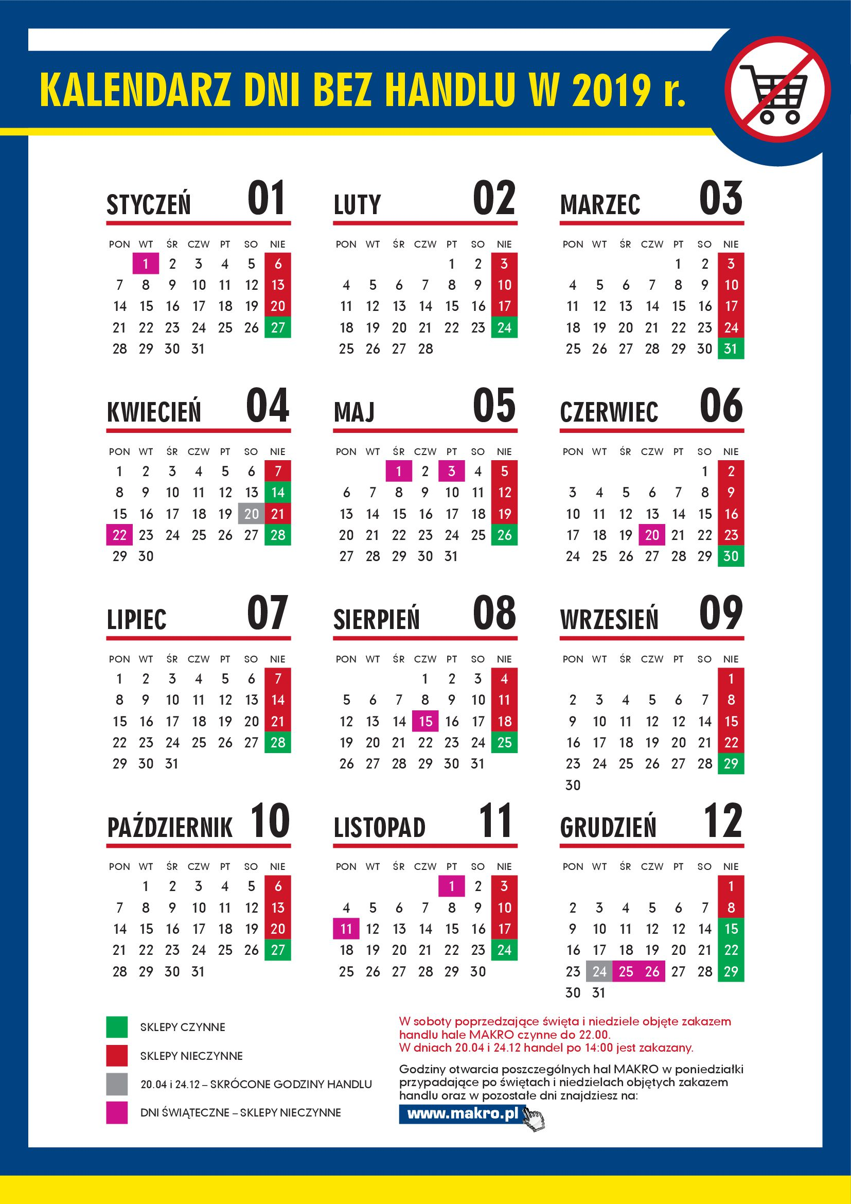 Gazetka Makro - Kalendarz dni bez handlu 2019-10.06.2019-31.12.2019-page-