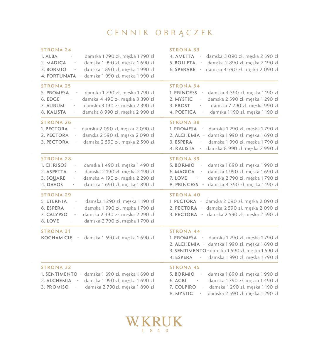 Gazetka W. KRUK: Katalog - Obrączki 2021-02-17 page-73