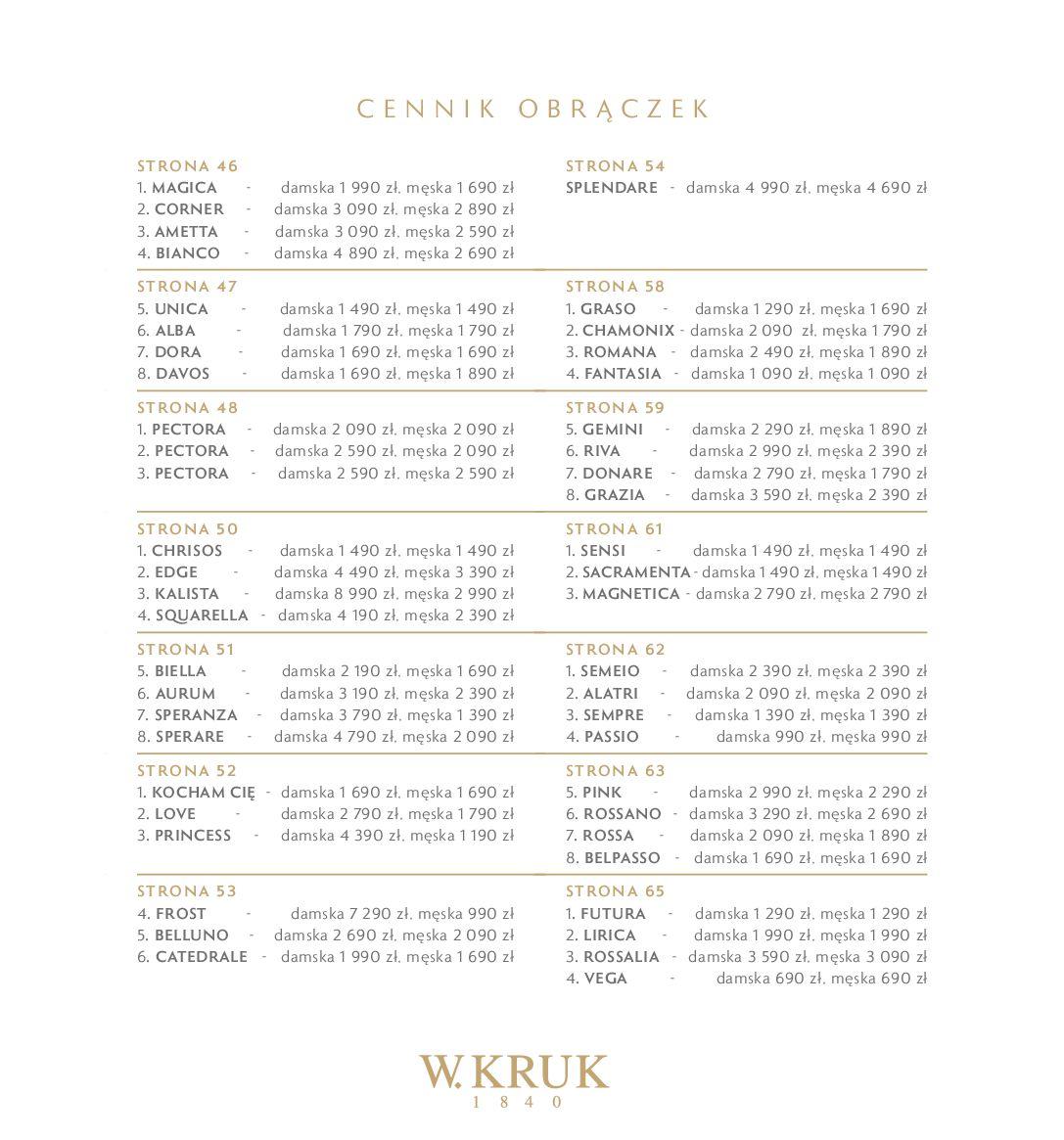 Gazetka W. KRUK: Katalog - Obrączki 2021-02-17 page-74