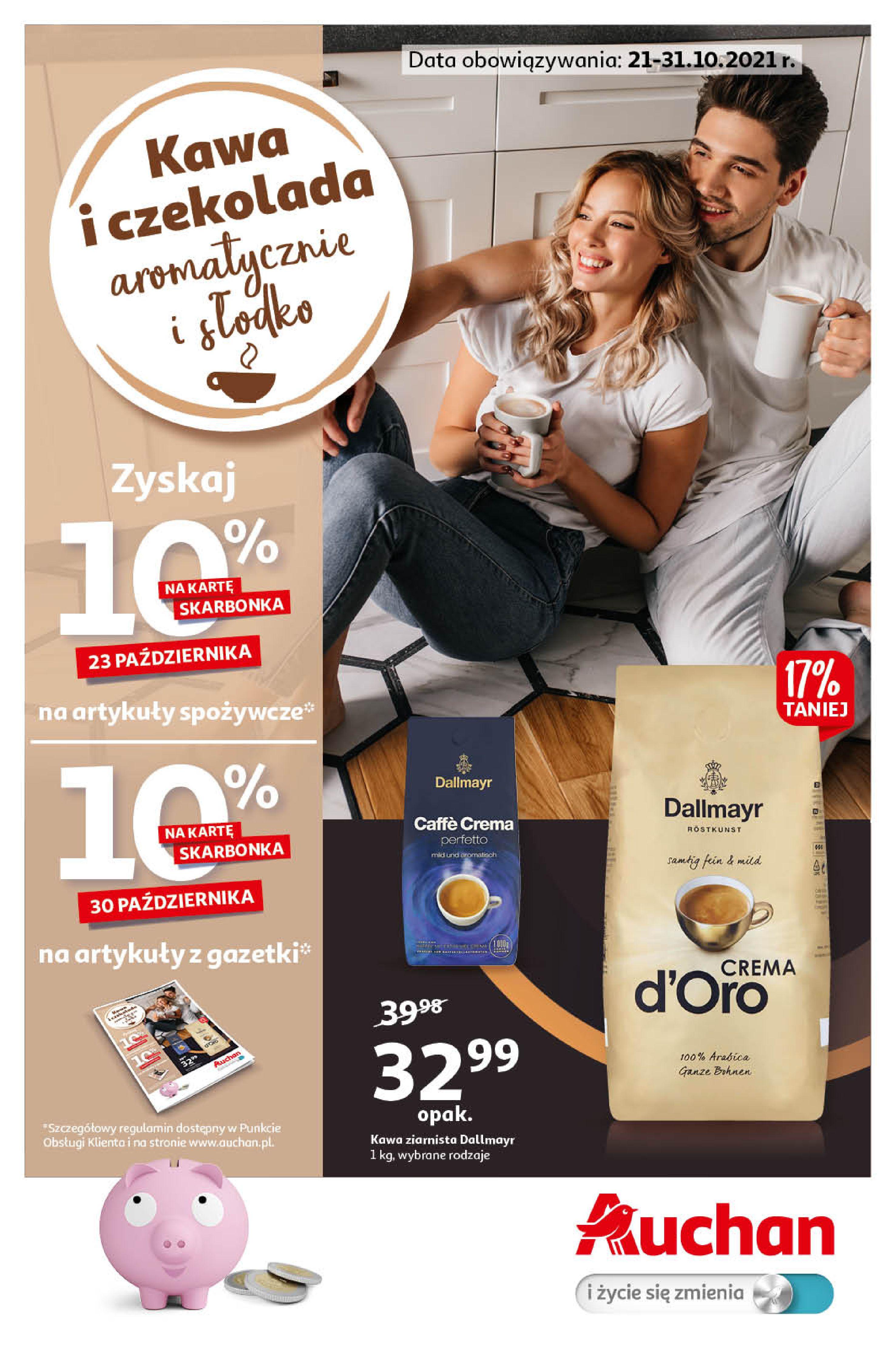 Gazetka Auchan: Gazetka Auchan - Kawa i czekolada aromatycznie i słodko Hipermarkety - 20.10.2021