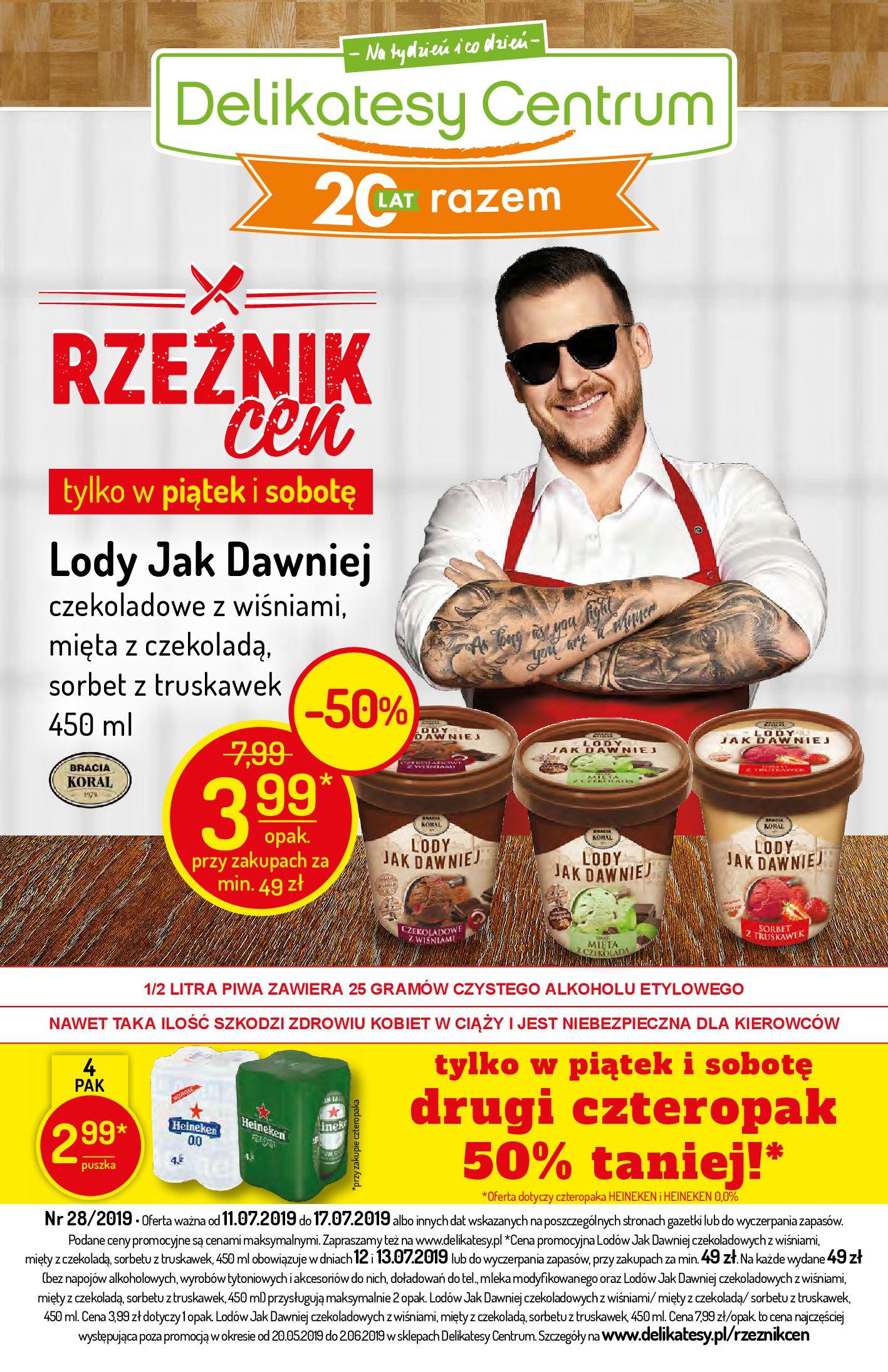 Gazetka Delikatesy Centrum - Oferta na art. spożywcze i kosmetyki-10.07.2019-17.07.2019-page-1