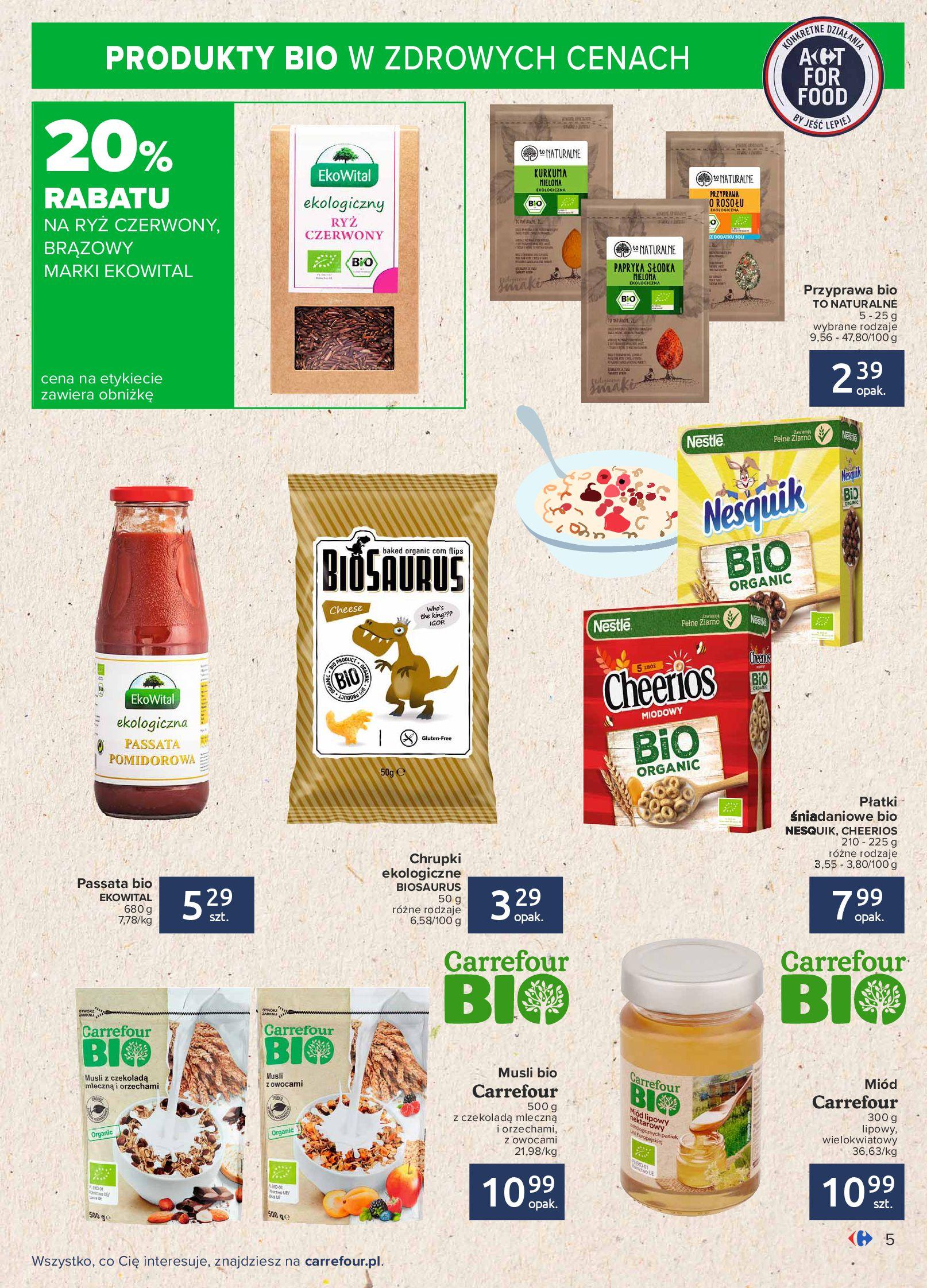 Gazetka Carrefour: Gazetka Carrefour - Możemy mądrze jeść! 2021-09-14 page-5