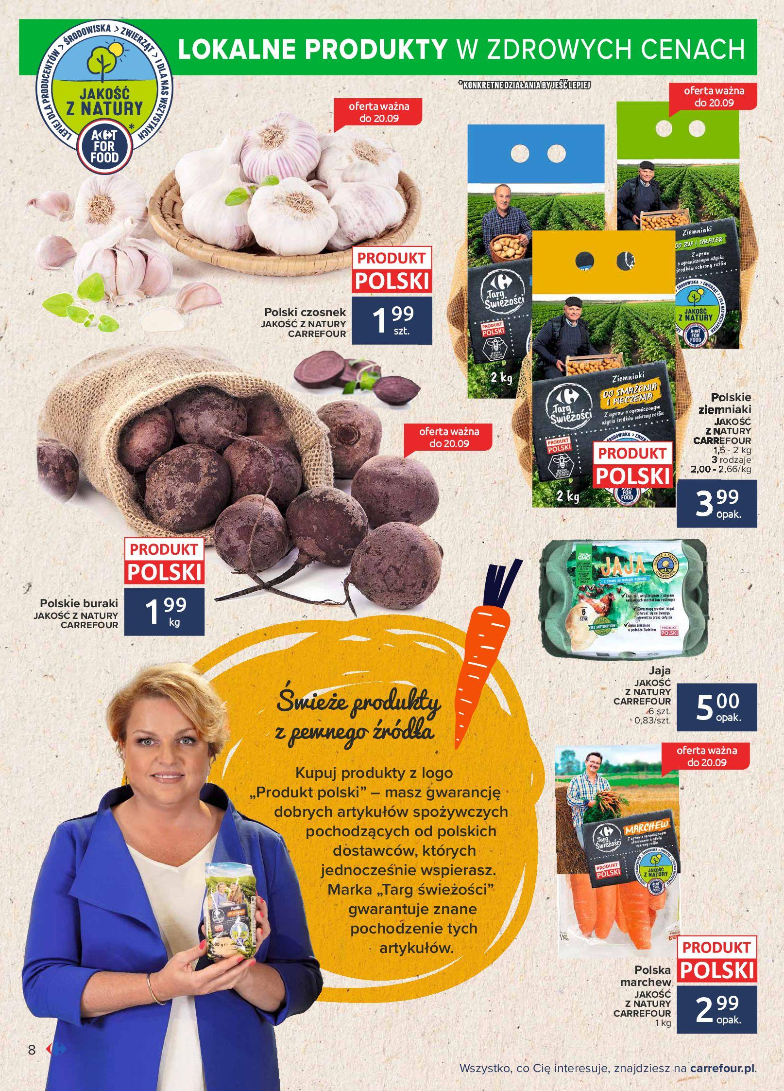 Gazetka Carrefour: Gazetka Carrefour - Możemy mądrze jeść! 2021-09-14 page-8