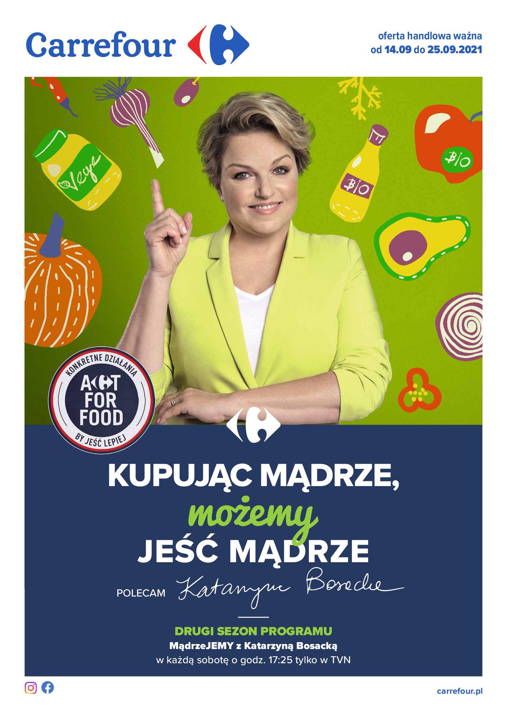 Carrefour:  Gazetka Carrefour - Możemy mądrze jeść! 13.09.2021