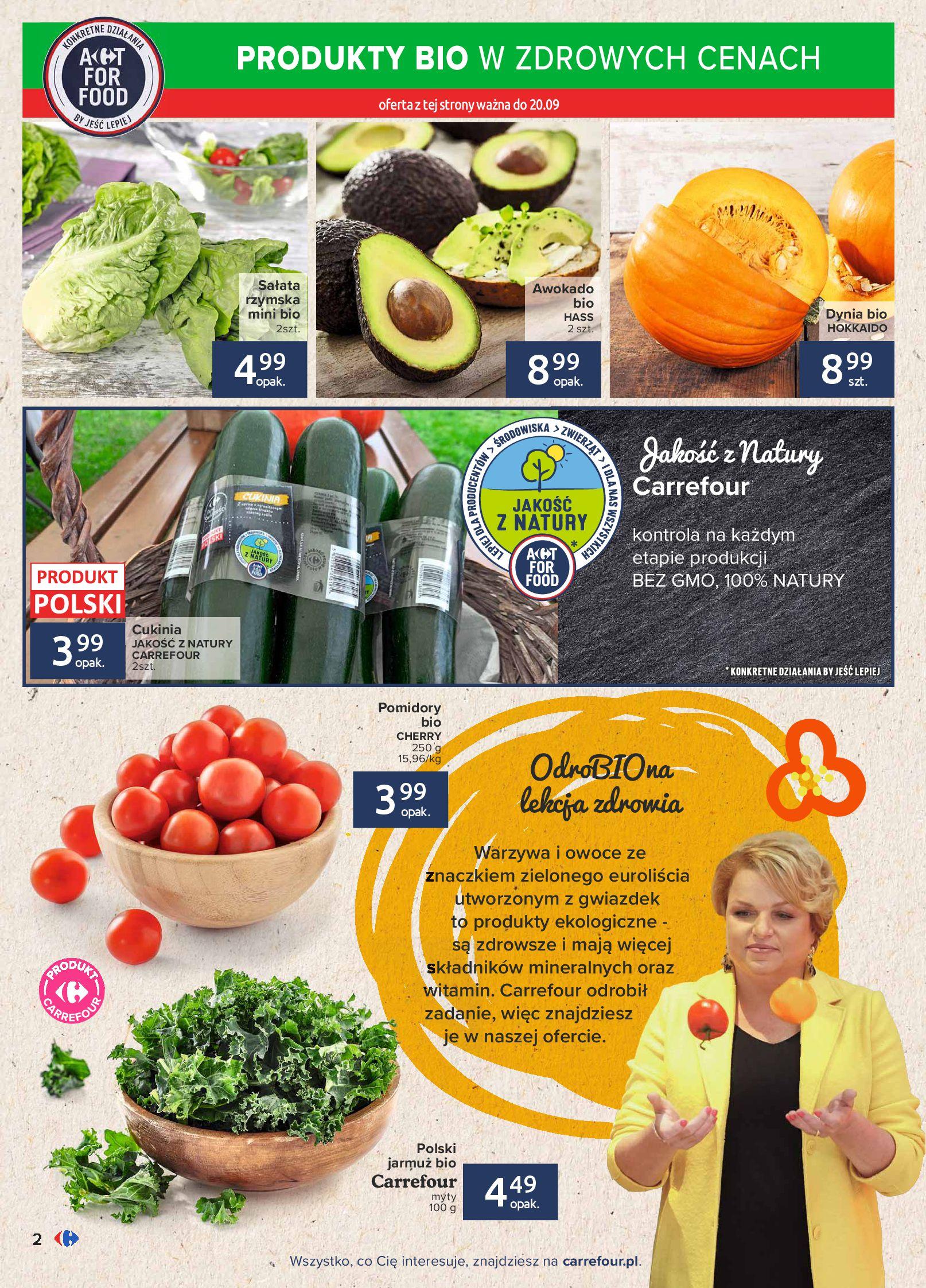 Gazetka Carrefour: Gazetka Carrefour - Możemy mądrze jeść! 2021-09-14 page-2