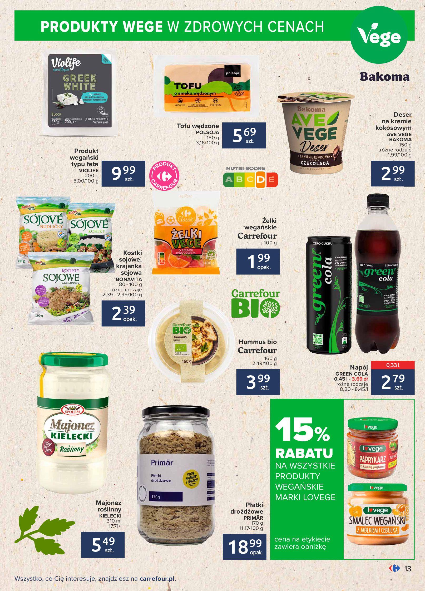 Gazetka Carrefour: Gazetka Carrefour - Możemy mądrze jeść! 2021-09-14 page-13