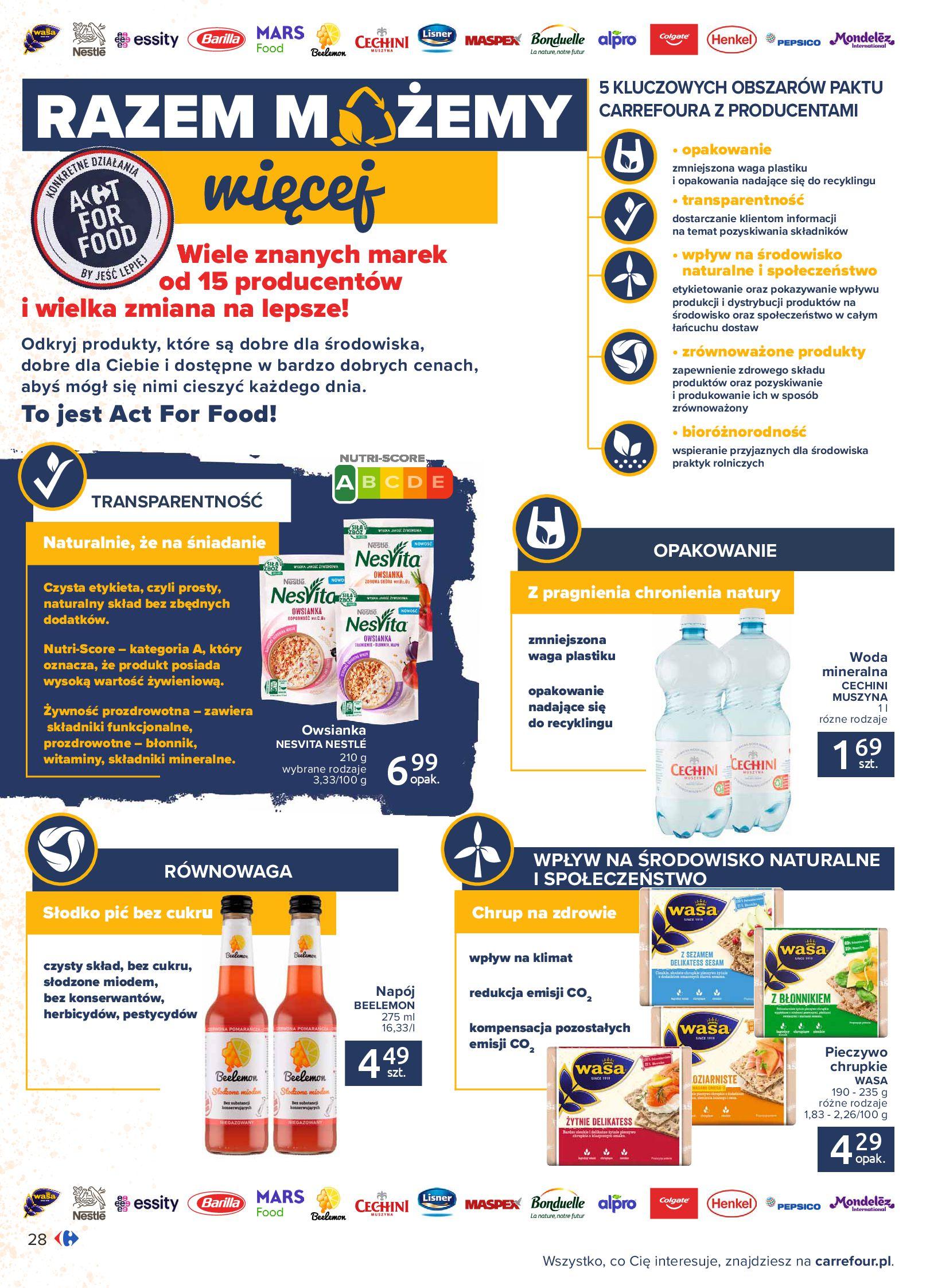 Gazetka Carrefour: Gazetka Carrefour - Możemy mądrze jeść! 2021-09-14 page-28